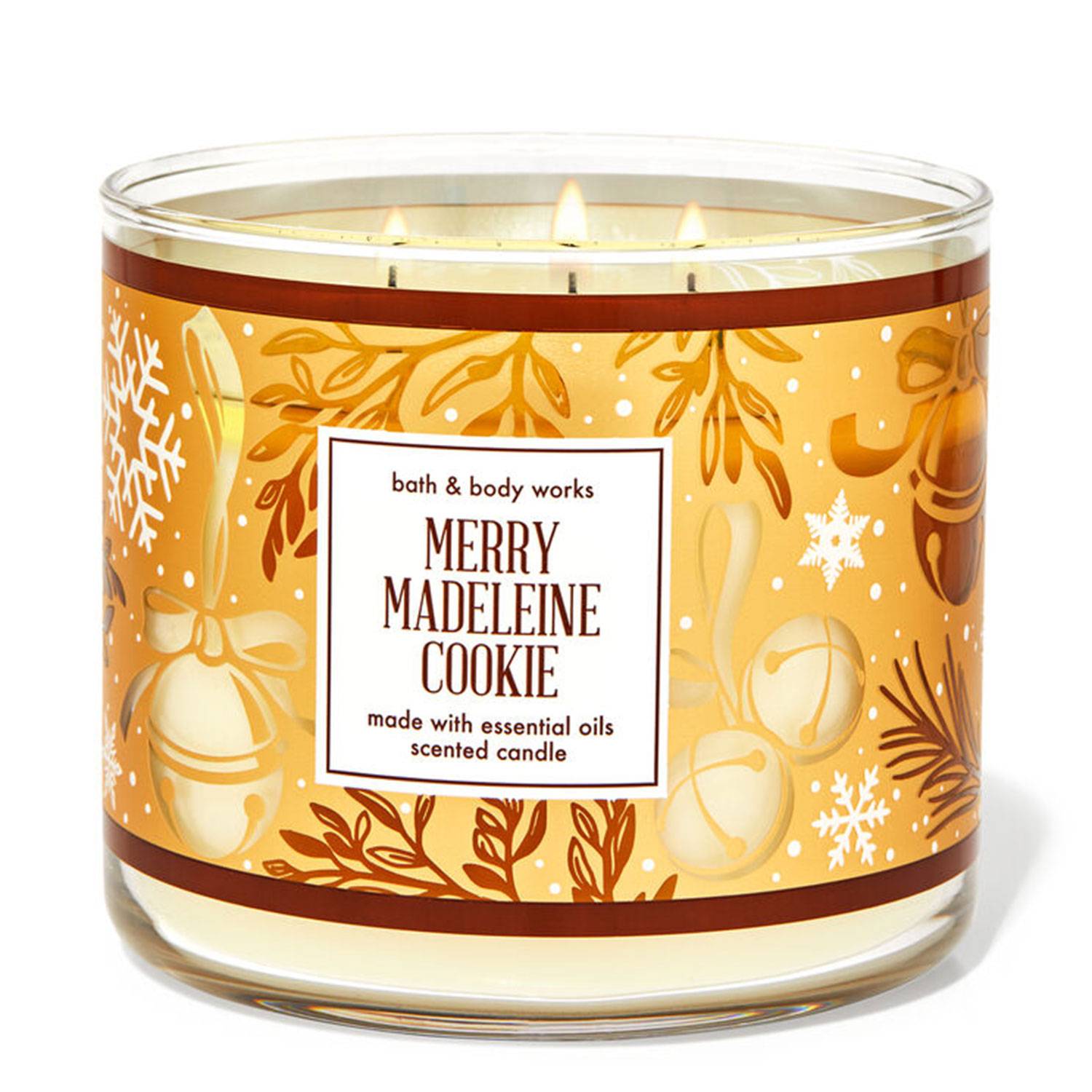 merry madeline cookie holiday candle