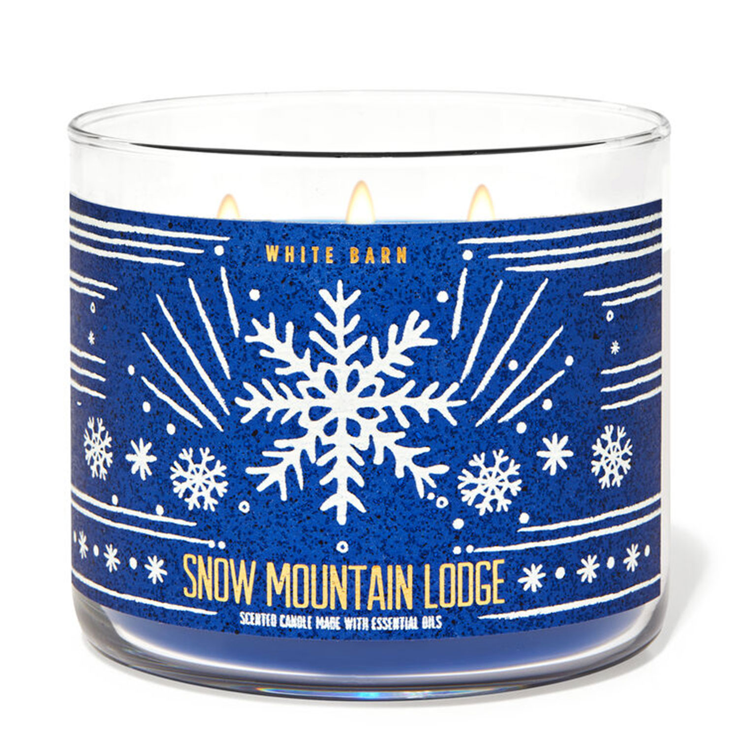 snow mountain lodge candle