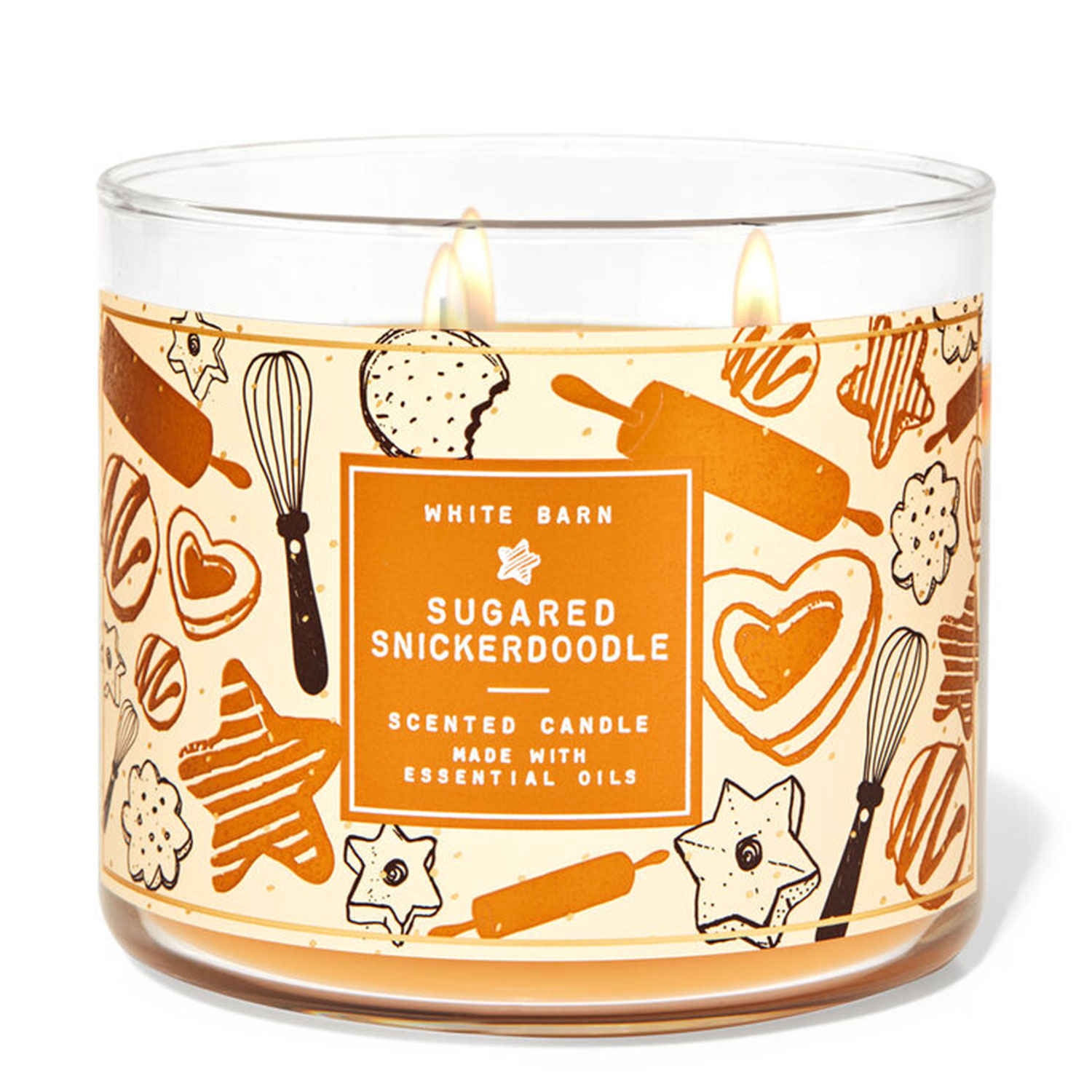 sugared snickerdoodle holiday candle