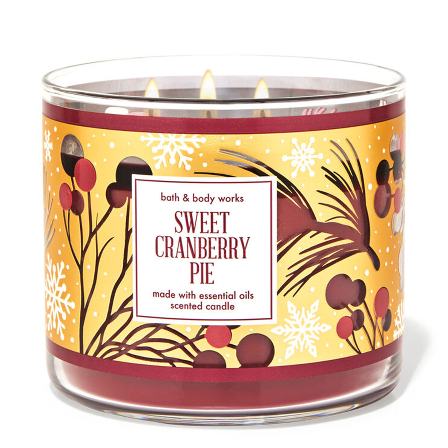 cranberry holiday candle