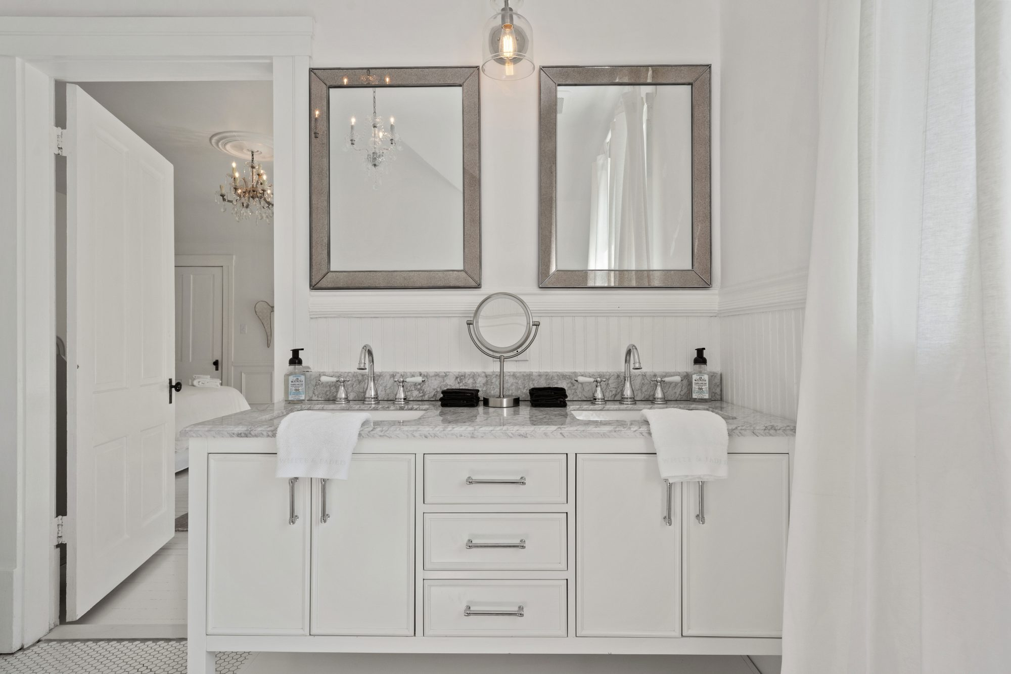 Waco Airbnb by White & Faded Bath Vanity