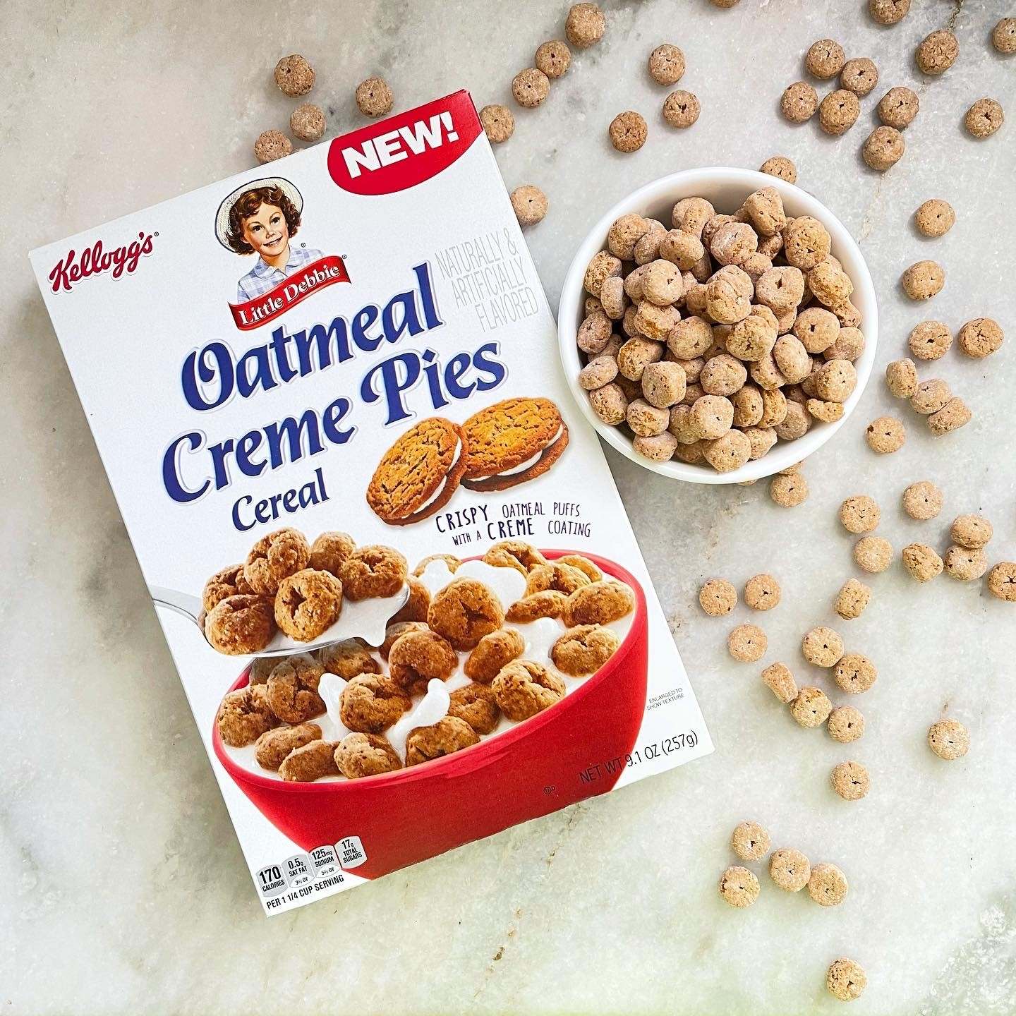 Kellogg's Little Debbie Oatmeal Creme Pies Cereal 1