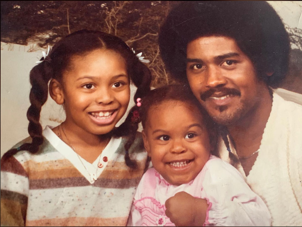 Tabitha Brown with her Father and Sister