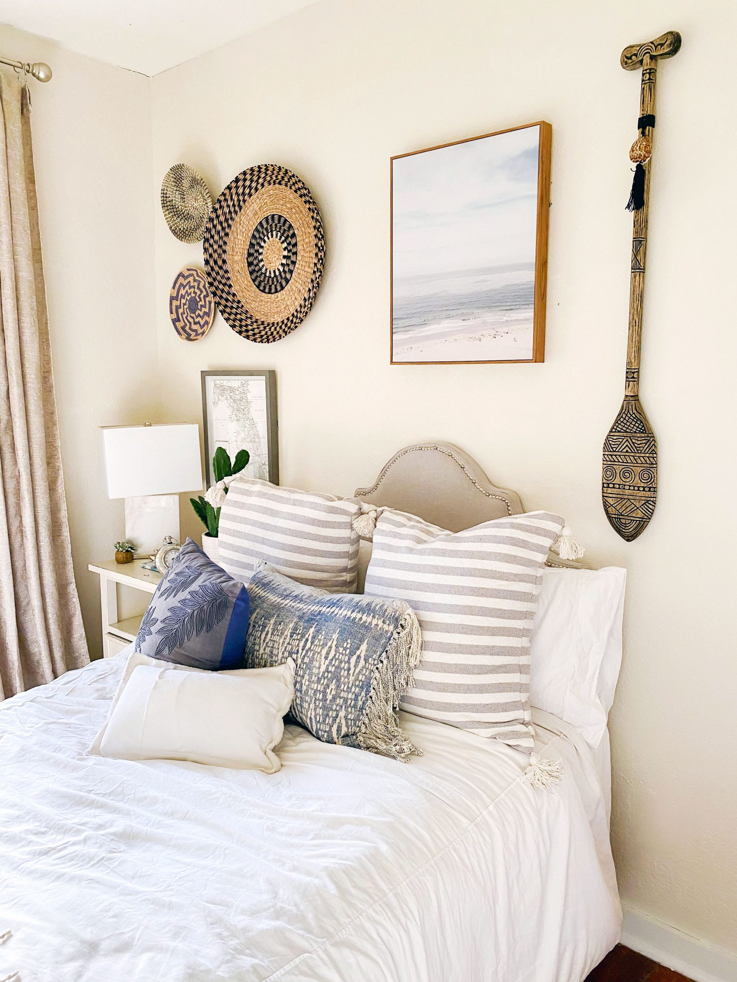 Neutral Guest Room with nautical accessories