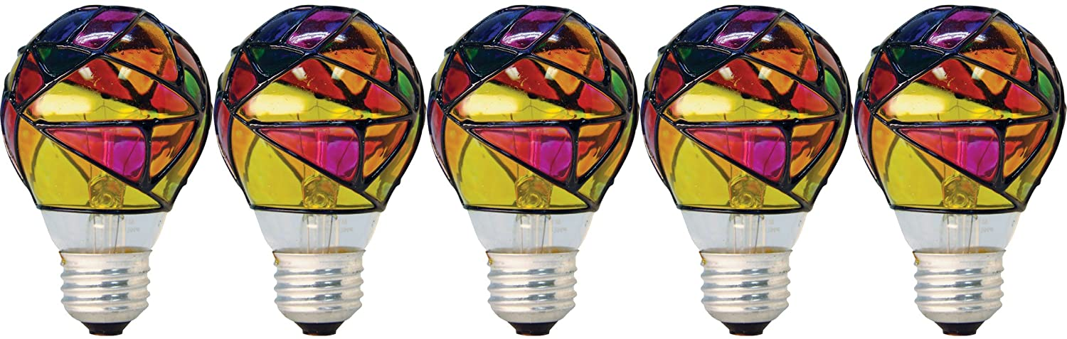 GE Incandescent Stained-Glass Light Bulbs