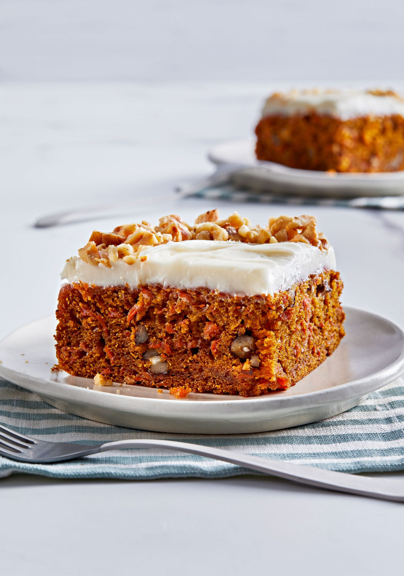 Carrot-Walnut Snack Cake with Cream Cheese Frosting