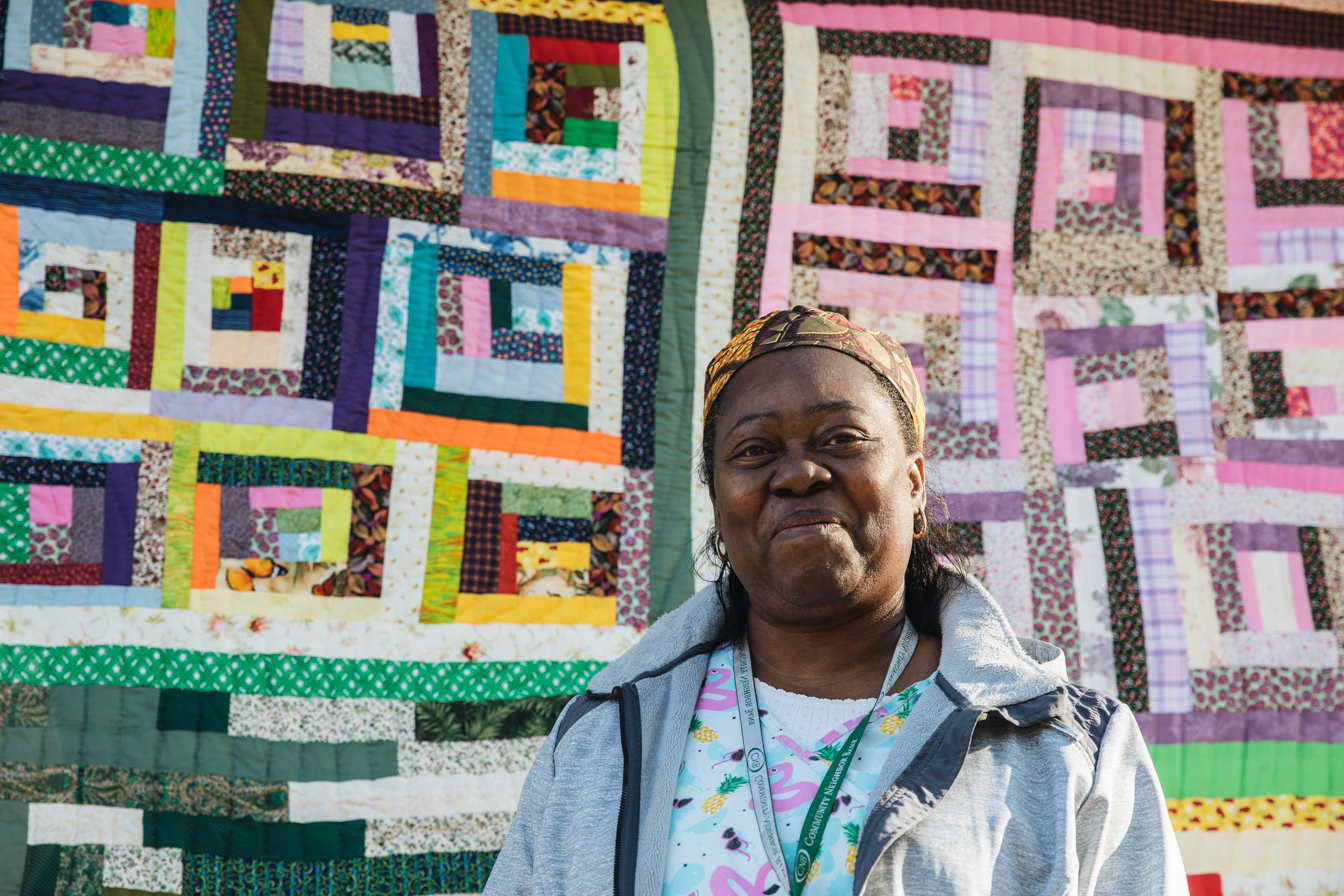 Gee's Bend Quilt by Doris Pettway Mosely