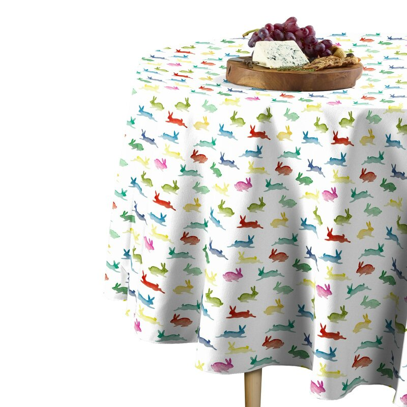 Sisco Geometric Round Easter Tablecloth