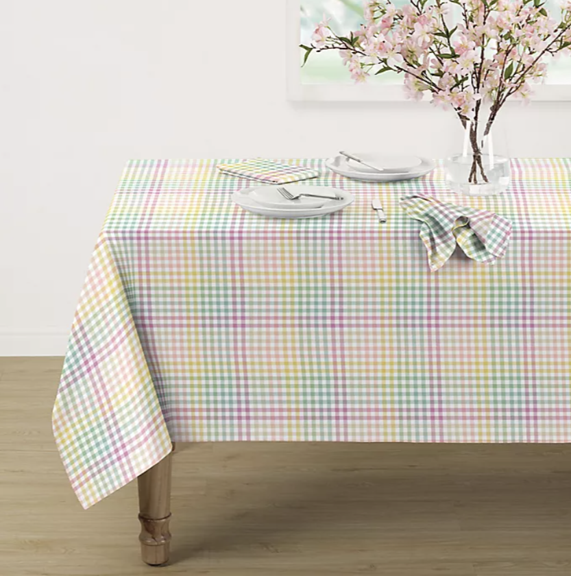 Spring Jubilee Plaid Tablecloth