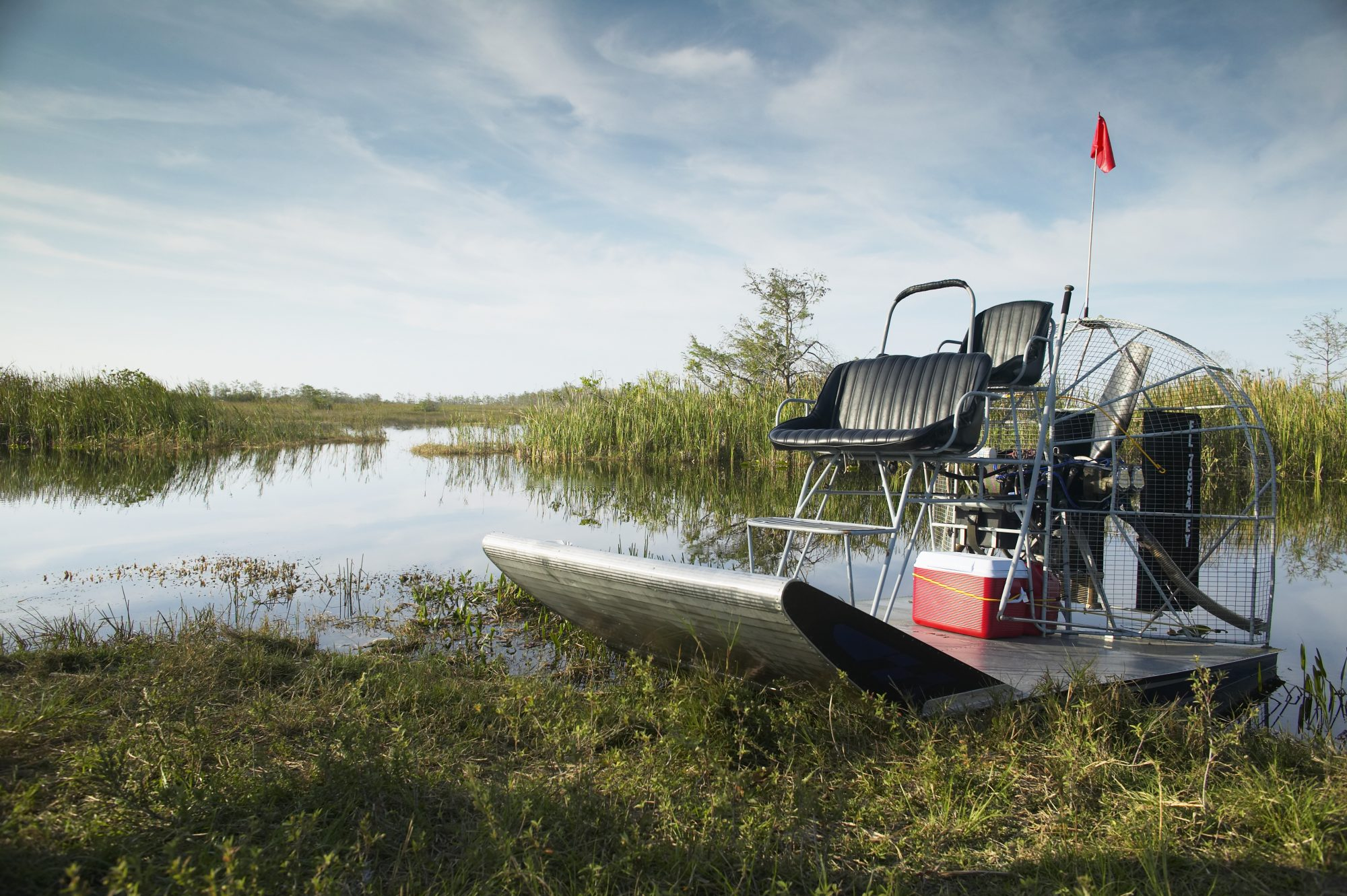 Airboat in the Florida Everglades