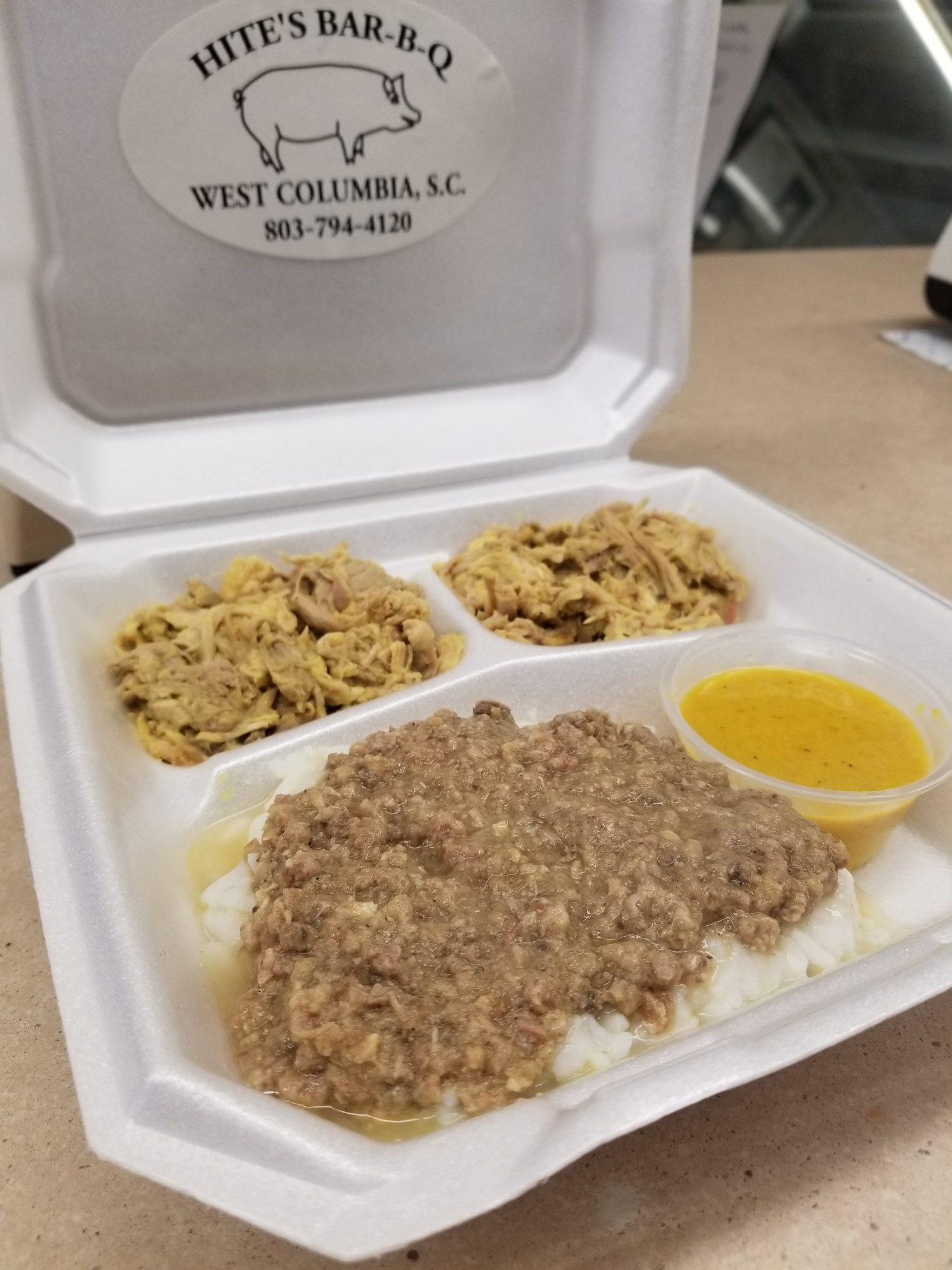 Hite's Bar-B-Q Hash and Rice