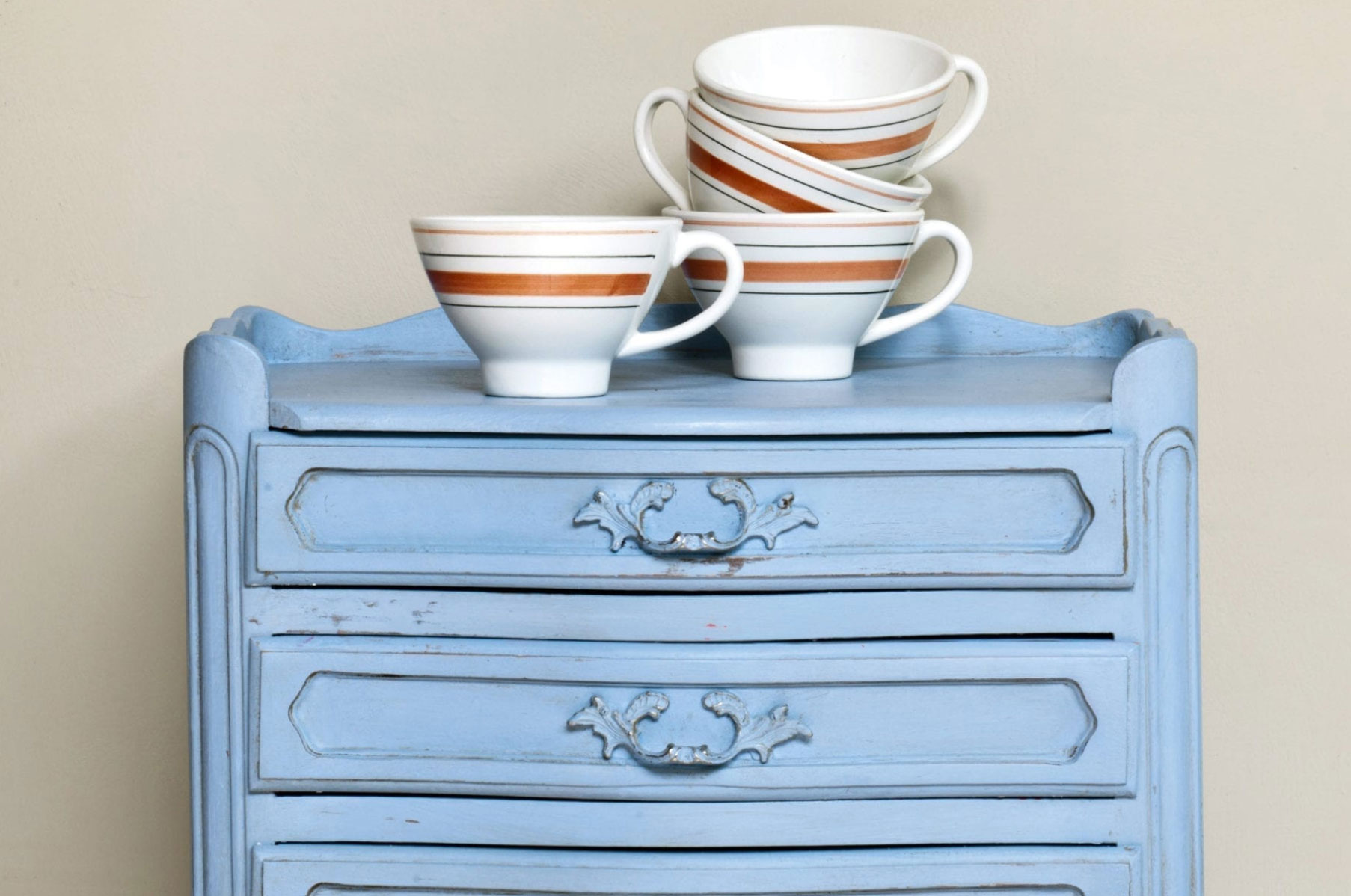 Blue Painted Sideboard