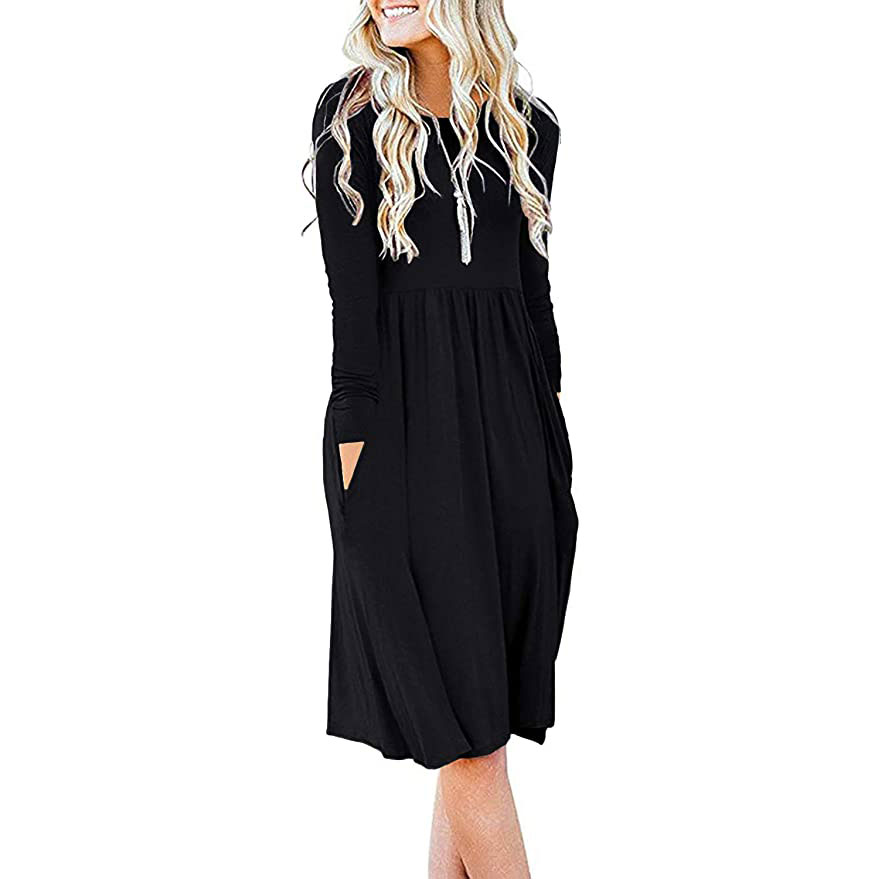 Women's Casual Long Sleeve Dress