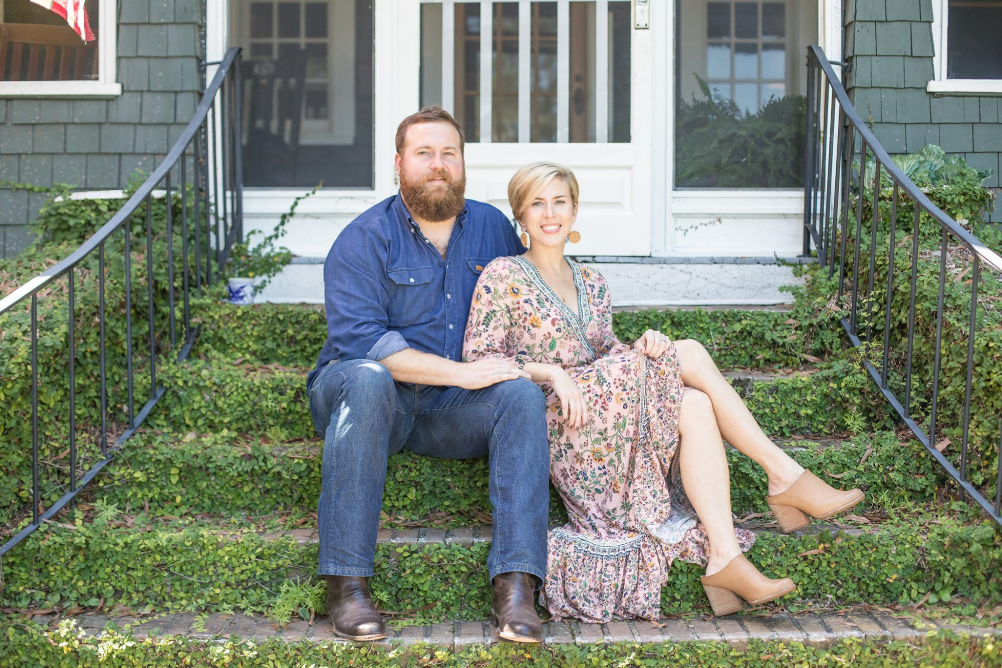 Ben and Erin Napier on Steps
