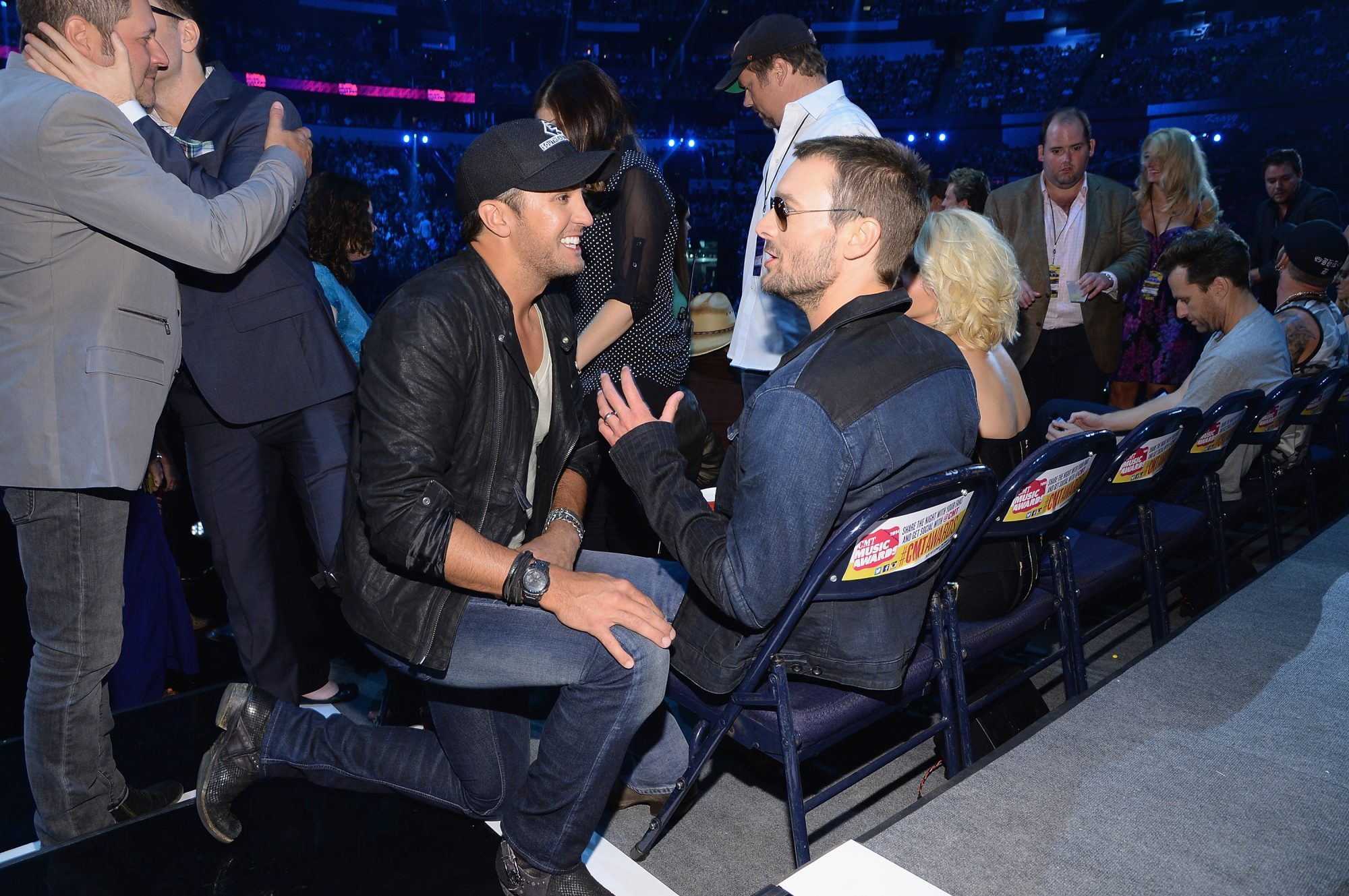 Eric Church and Luke Bryan 2014 CMT Music Awards - Backstage & Audience