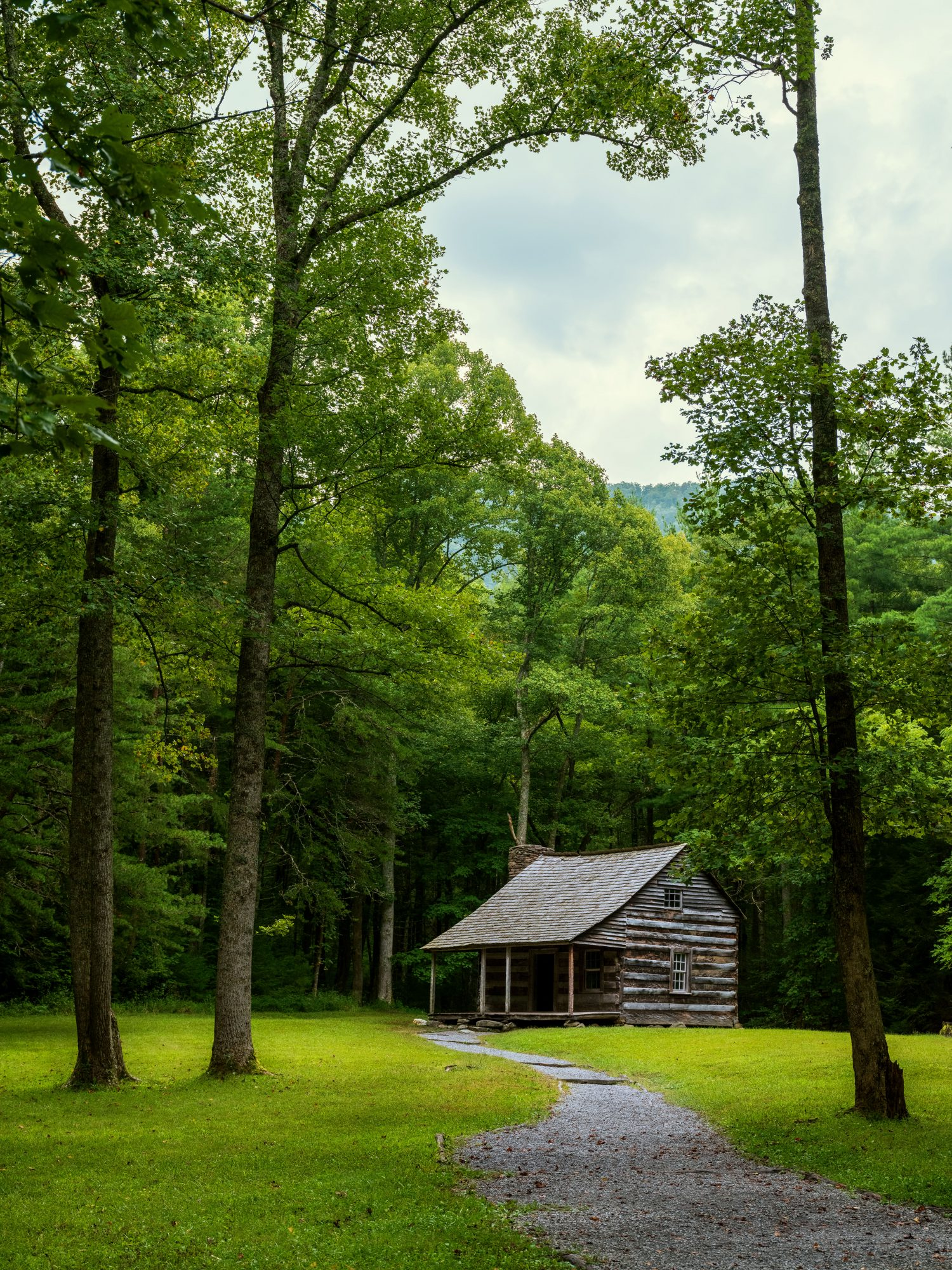 The Carter Shields Cabin on Cades Cove Loop in the Great Smoky Mountains National Park