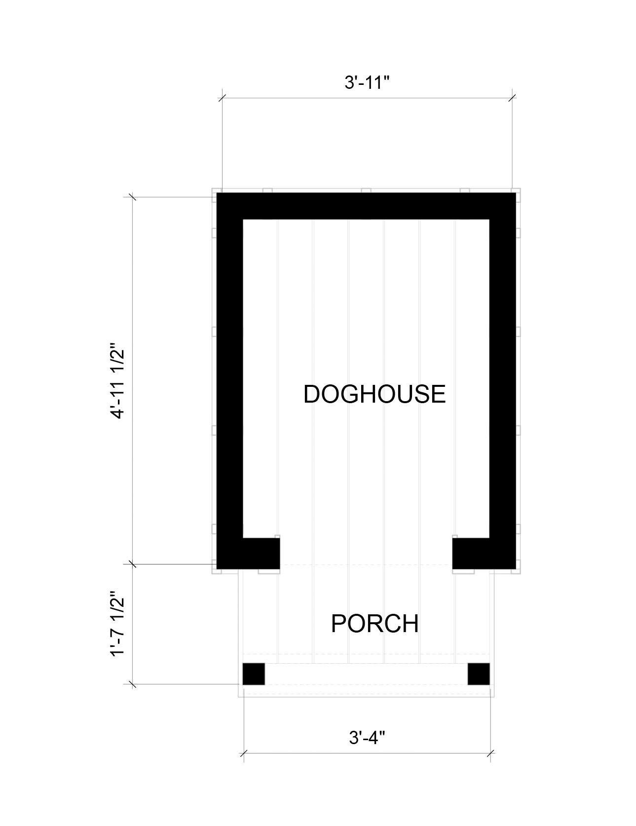 The Ramble Doghouse Floor Plan SL-2053_F1