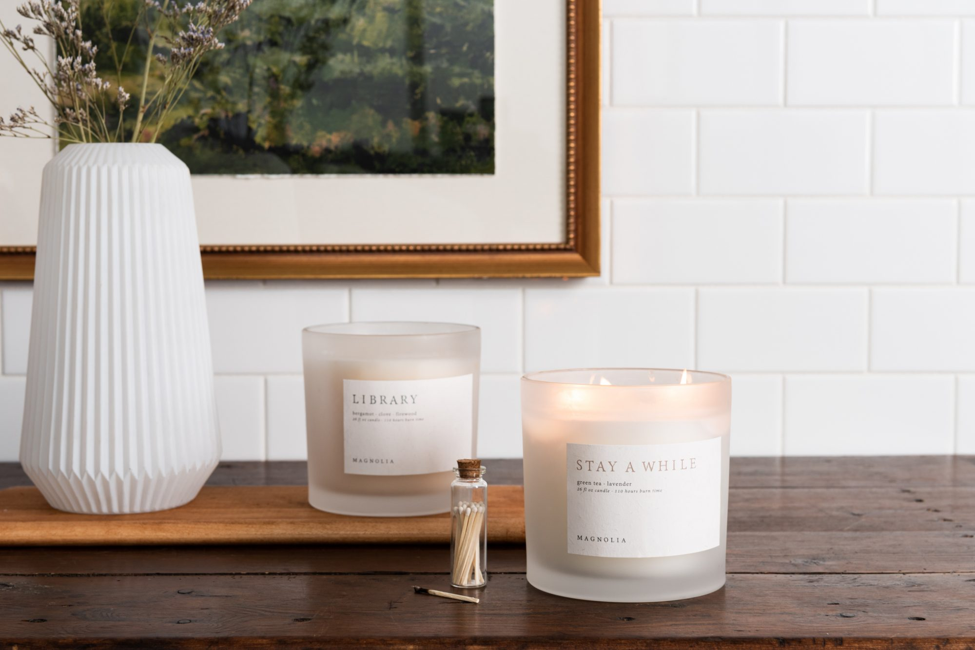 Magnolia Candle Subscription Stay a While and Library