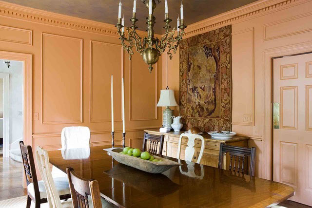 Terra-cotta and Brown Room