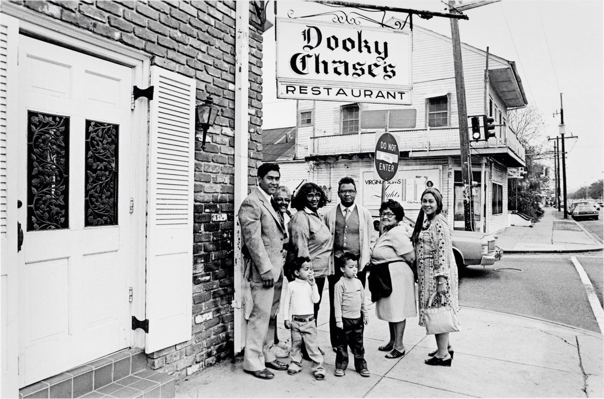 The Chase family outside Dooky Chase's Restaurant in New Orleans' French Quarter