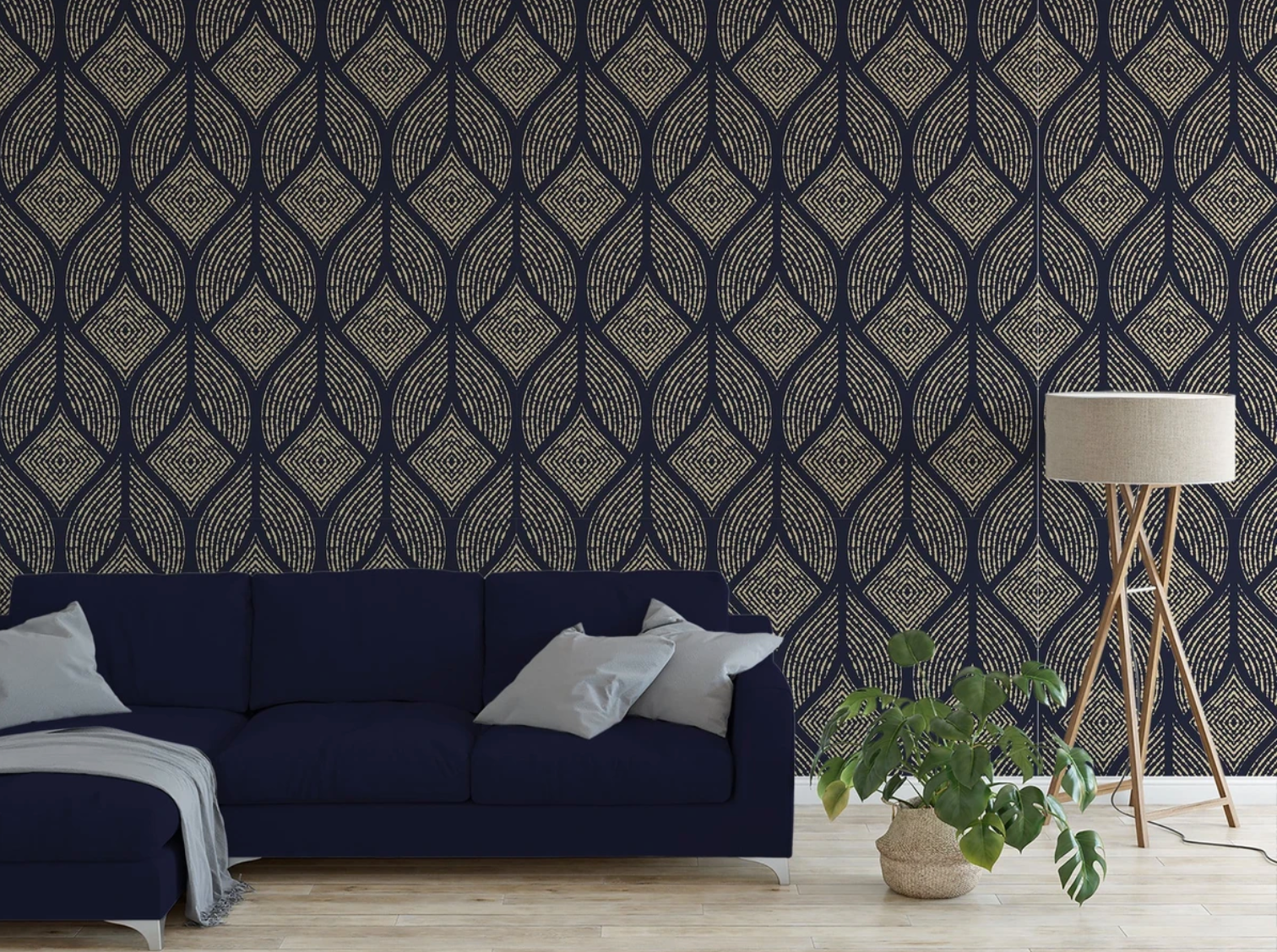 Flapper Inspired Peel and Stick Wallpaper