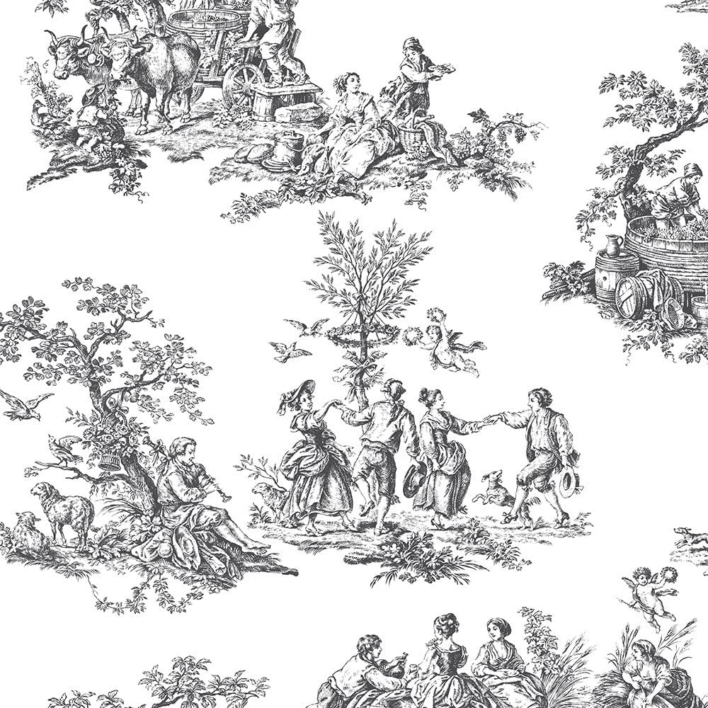 Toile Peel and Stick Wallpaper