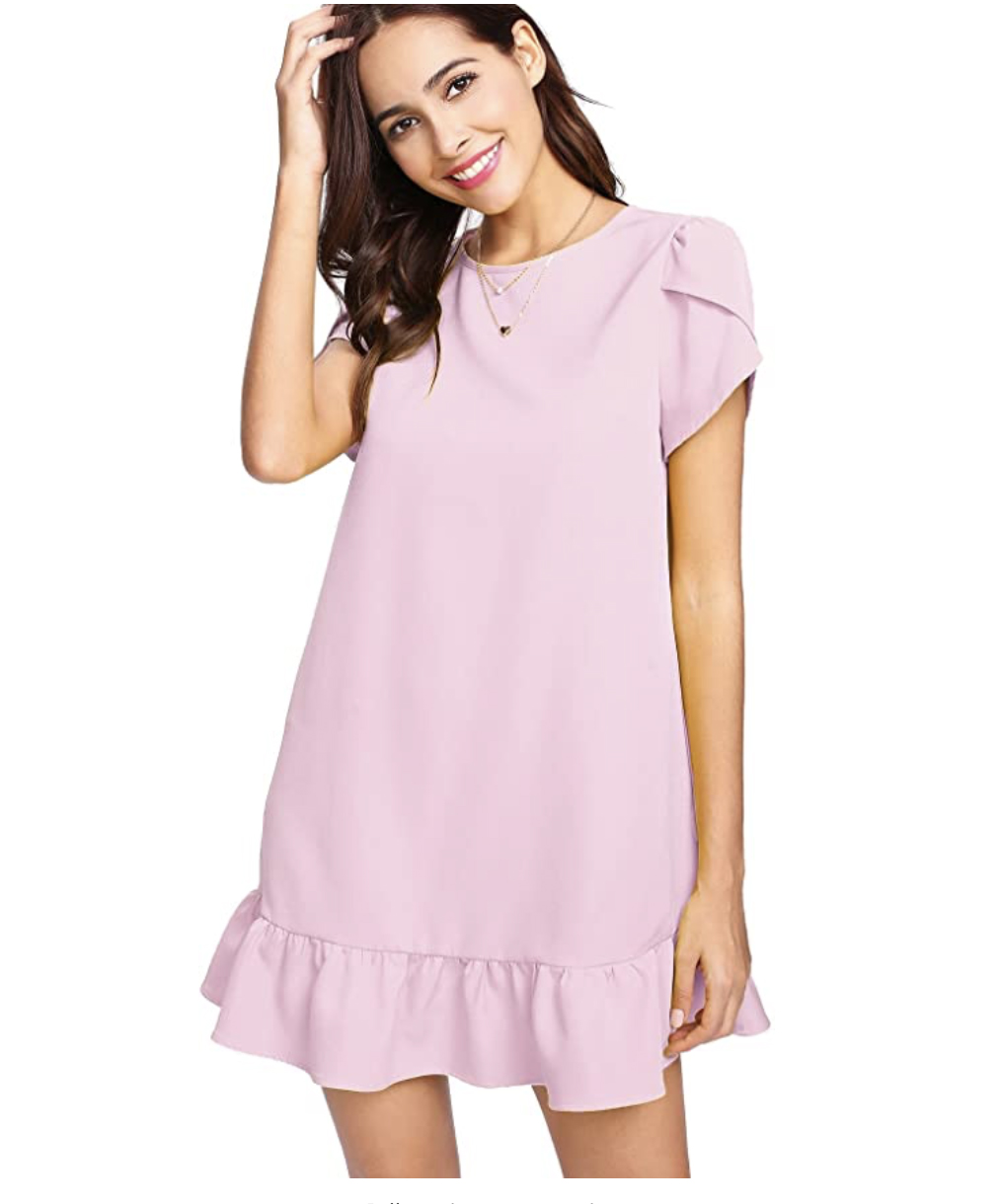 Verduse Petal Sleeve Dress