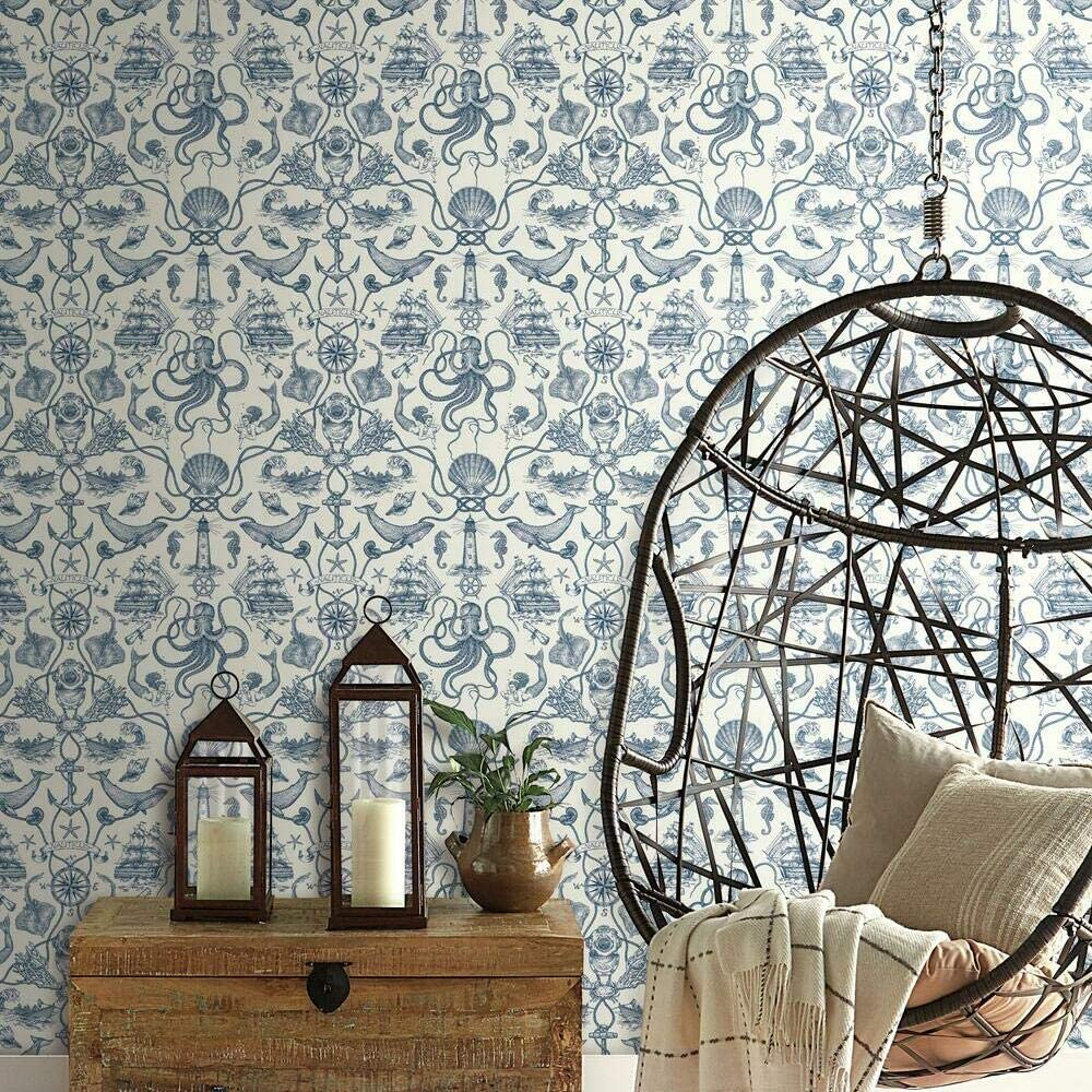 Whimsical Toile Peel and Stick Wallpaper