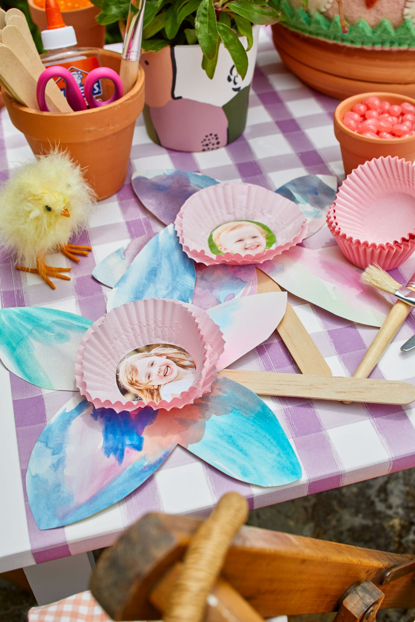 Easter Party Craft for Kids Flower Photo Frames