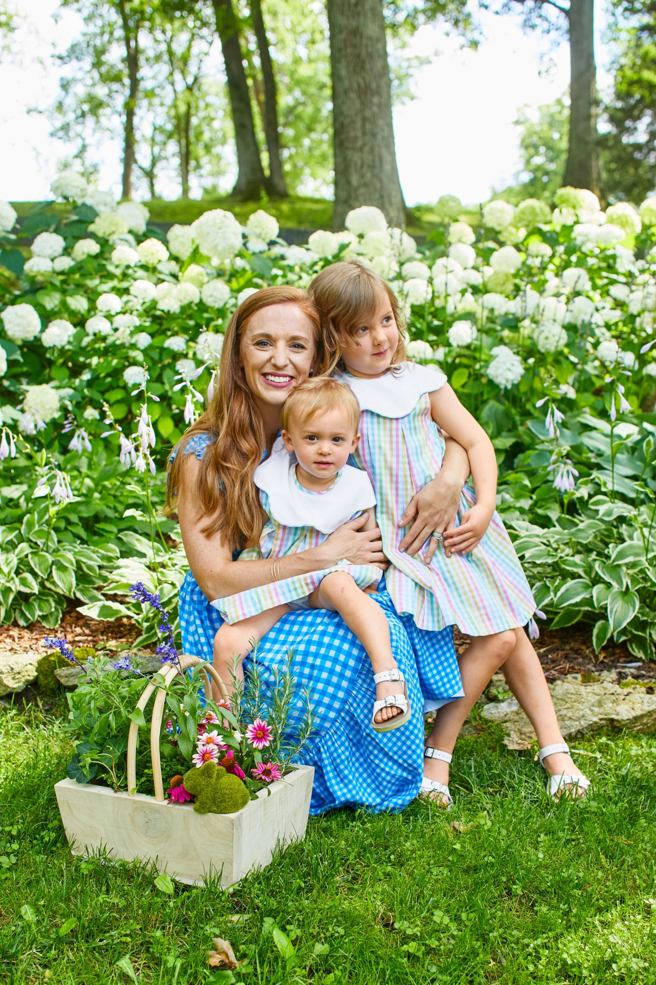 Katie Jacobs and daughters for Easter Party