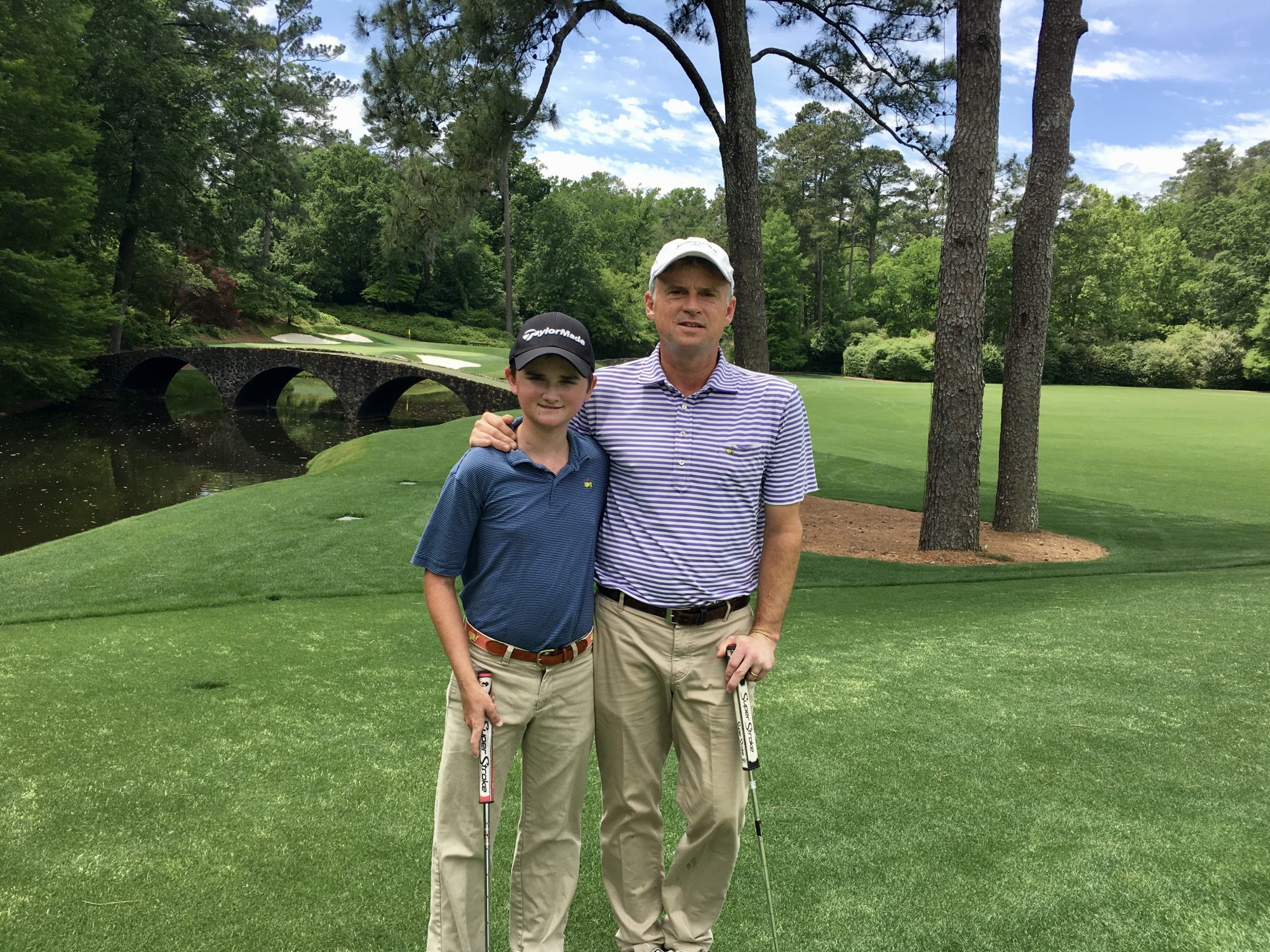 Brennan Simkins with his father Turner