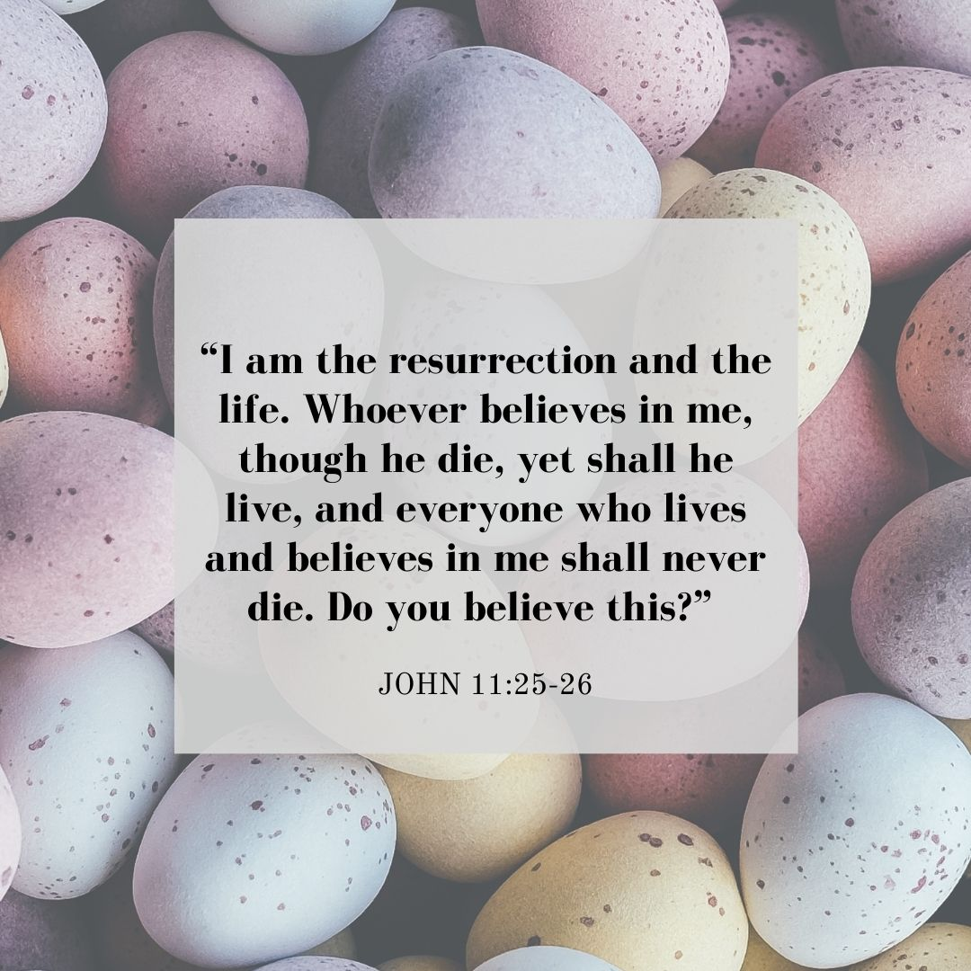 Easter Quotes from the Bible: John 11:25-26