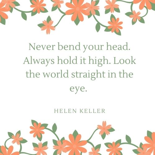 Helen Keller May Quote