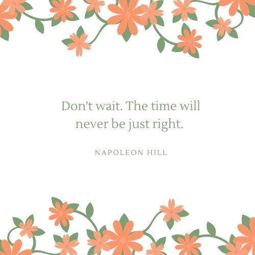 Napoleon Hill May Quote
