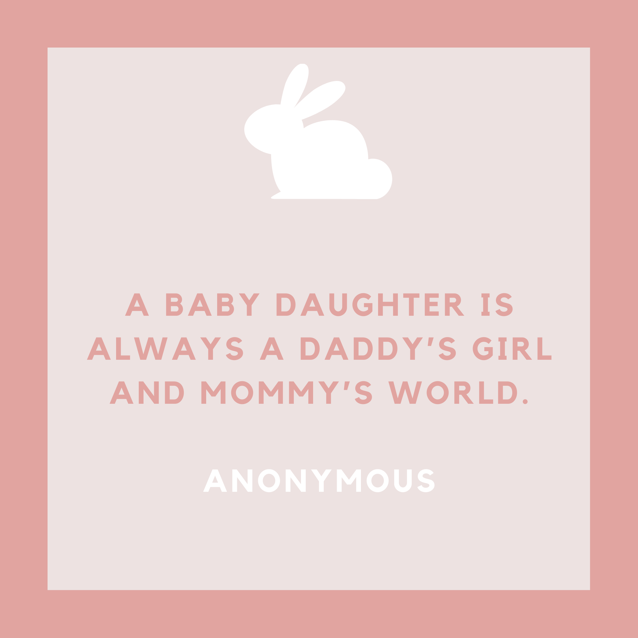 Baby Girl Whole World Quote