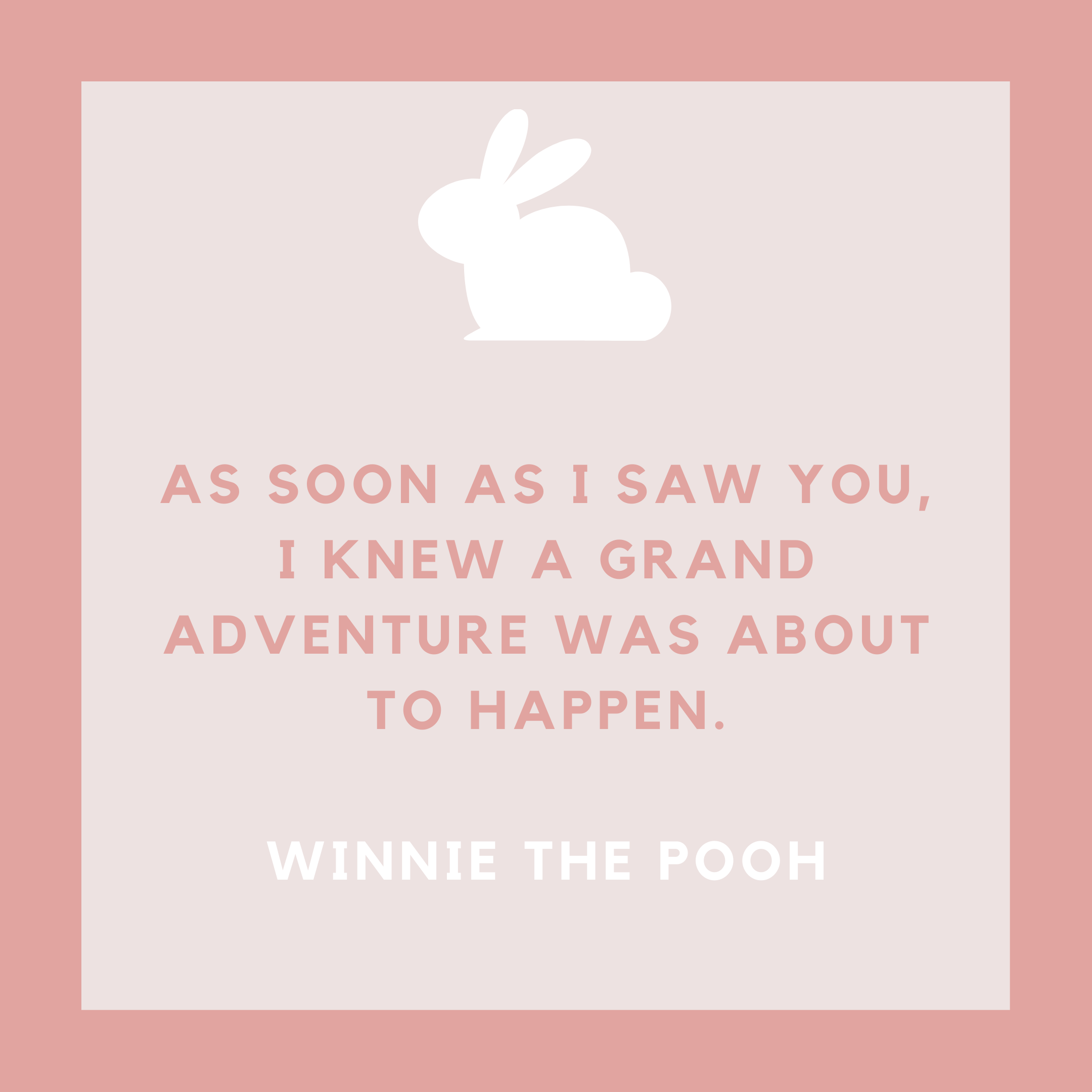Winnie the Pooh Baby Girl Adventure Quote