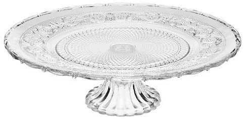 glass footed platter