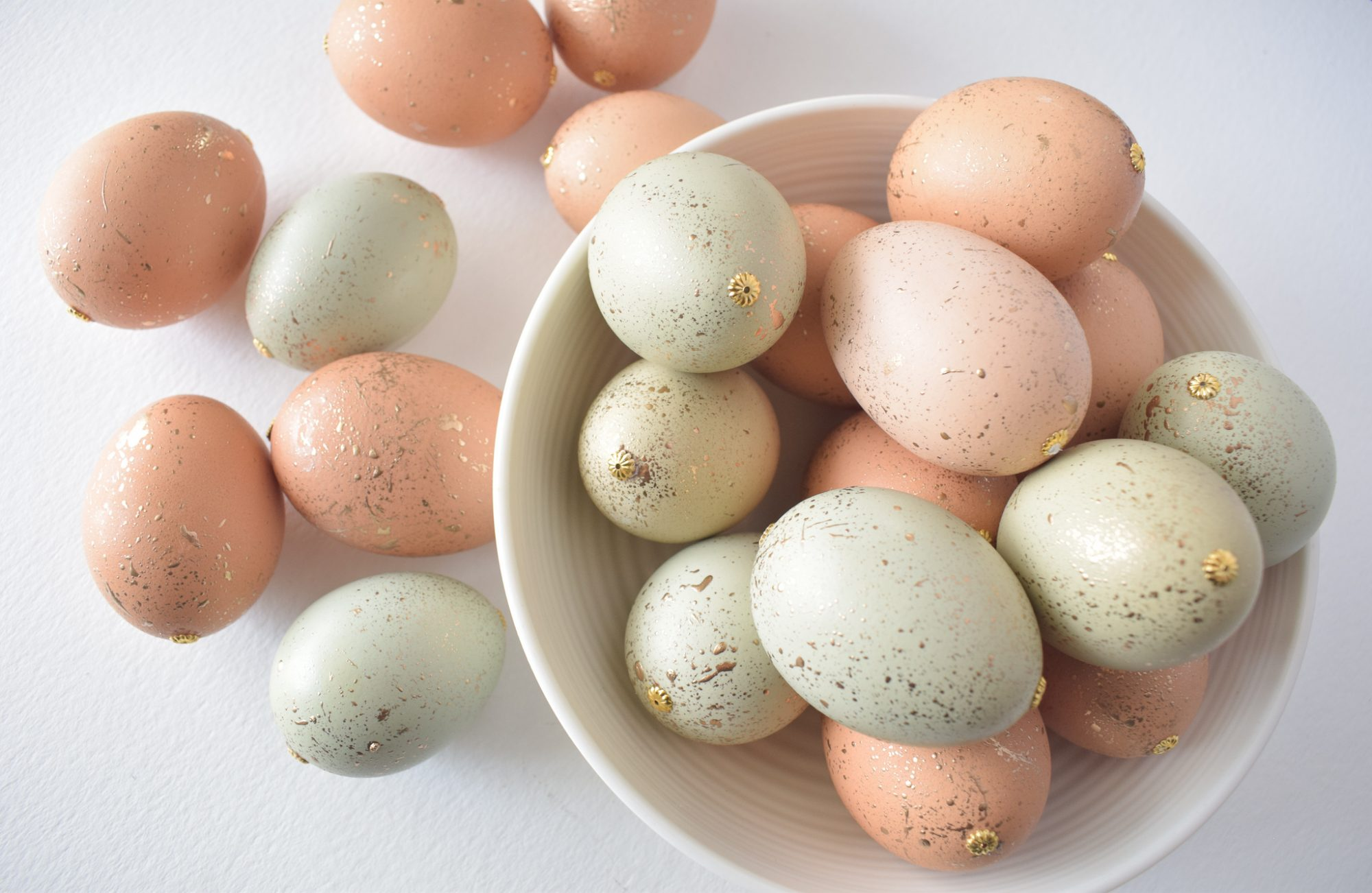 DIY Gold Speckled Easter Eggs