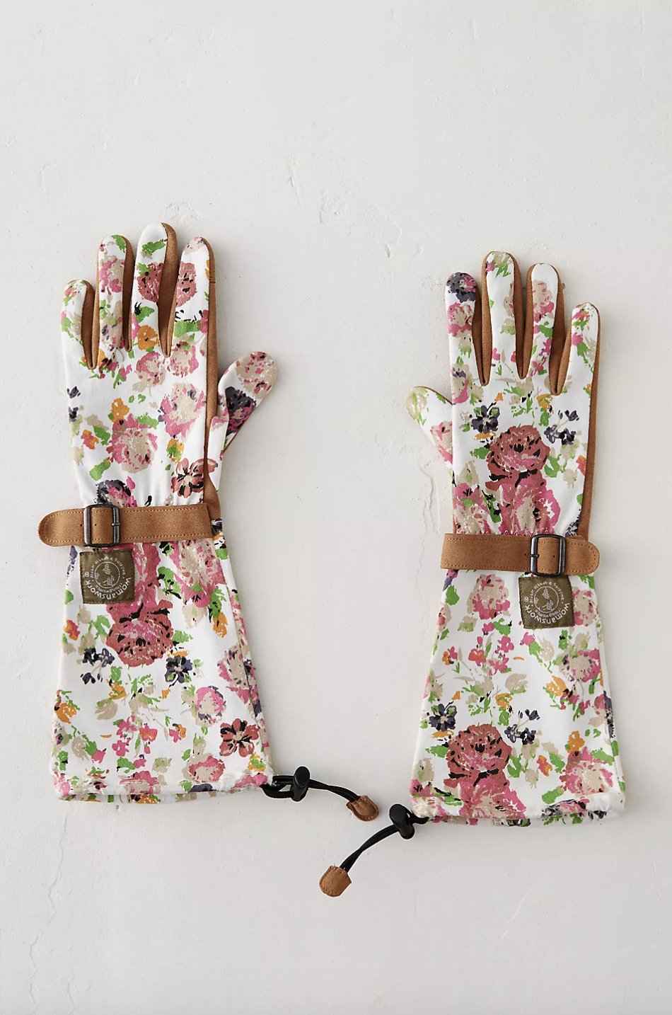Long Floral Garden Gloves