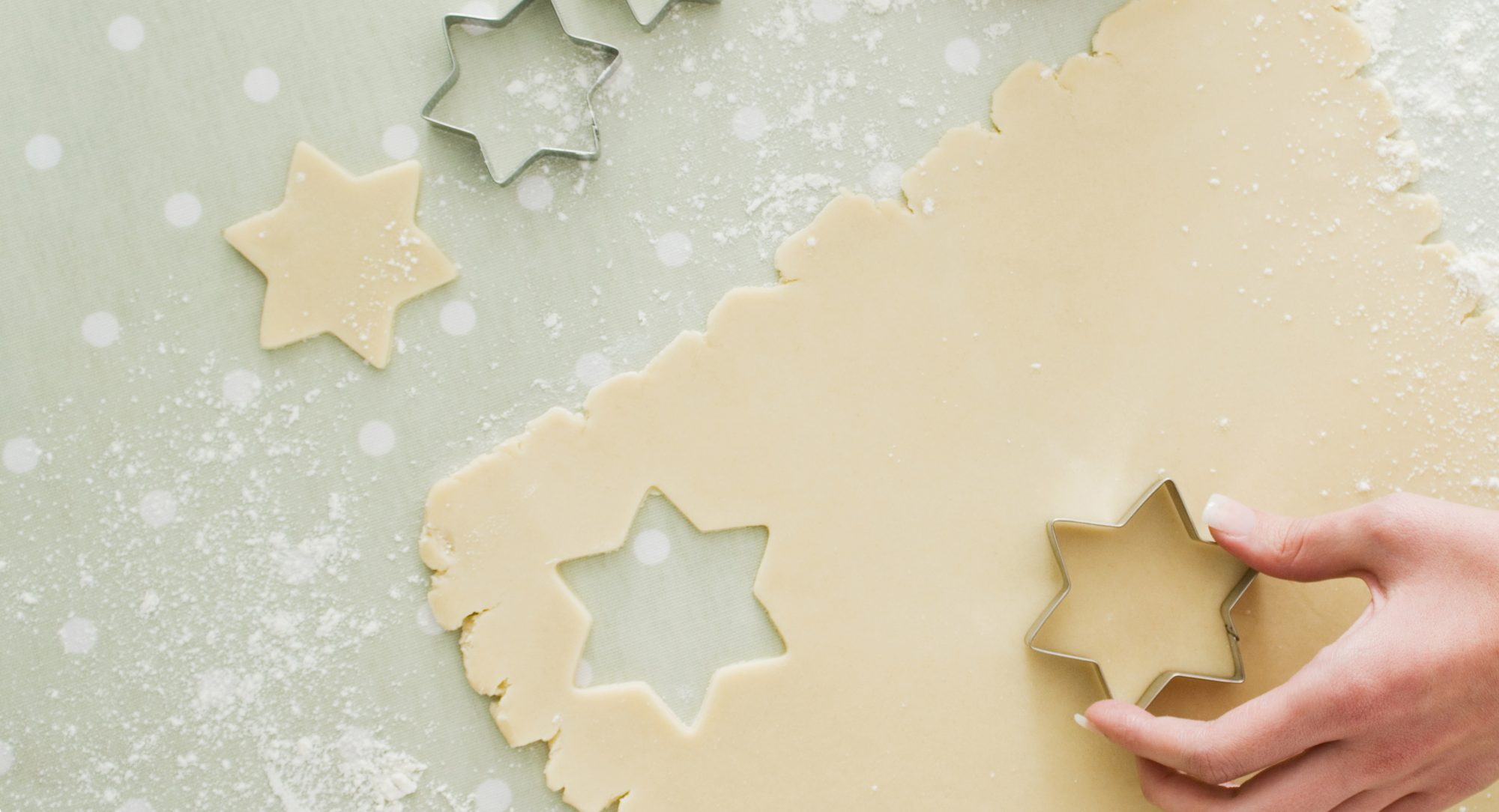 Cut Out Cookie Dough and Cookie Cutters