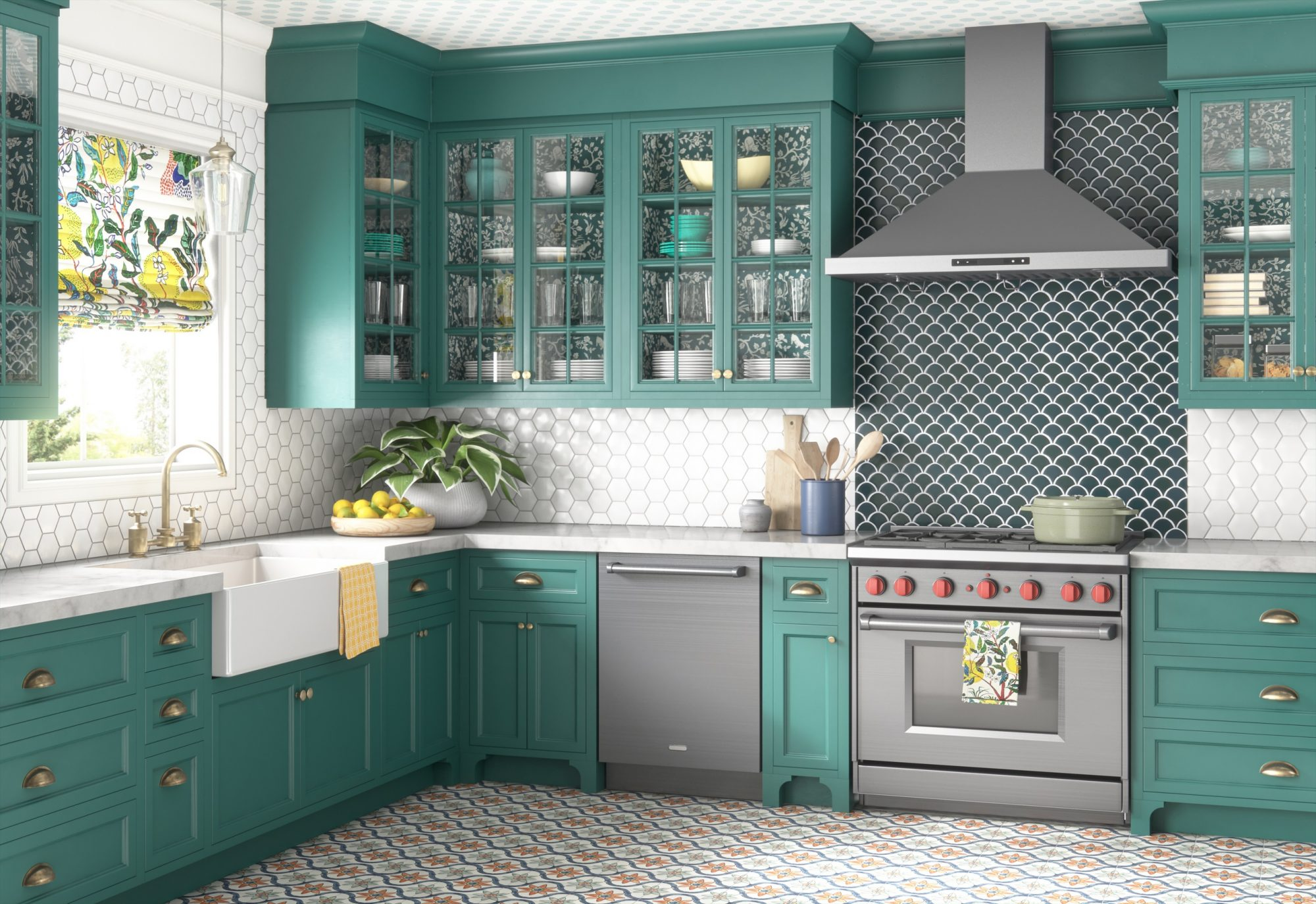 9 Paint Color Trends We're Loving for Kitchen Cabinets in 9 ...