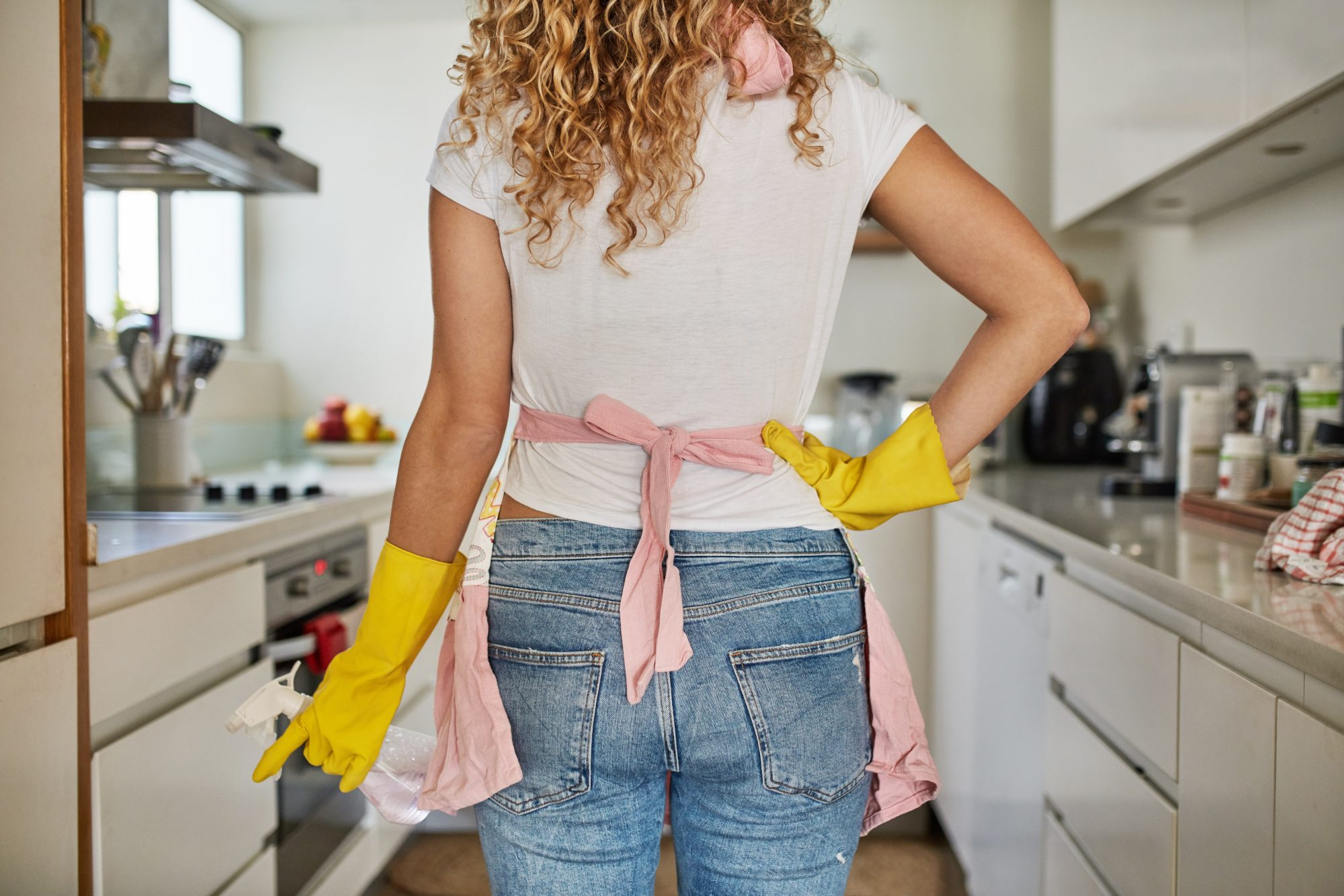 Cleaning In Kitchen