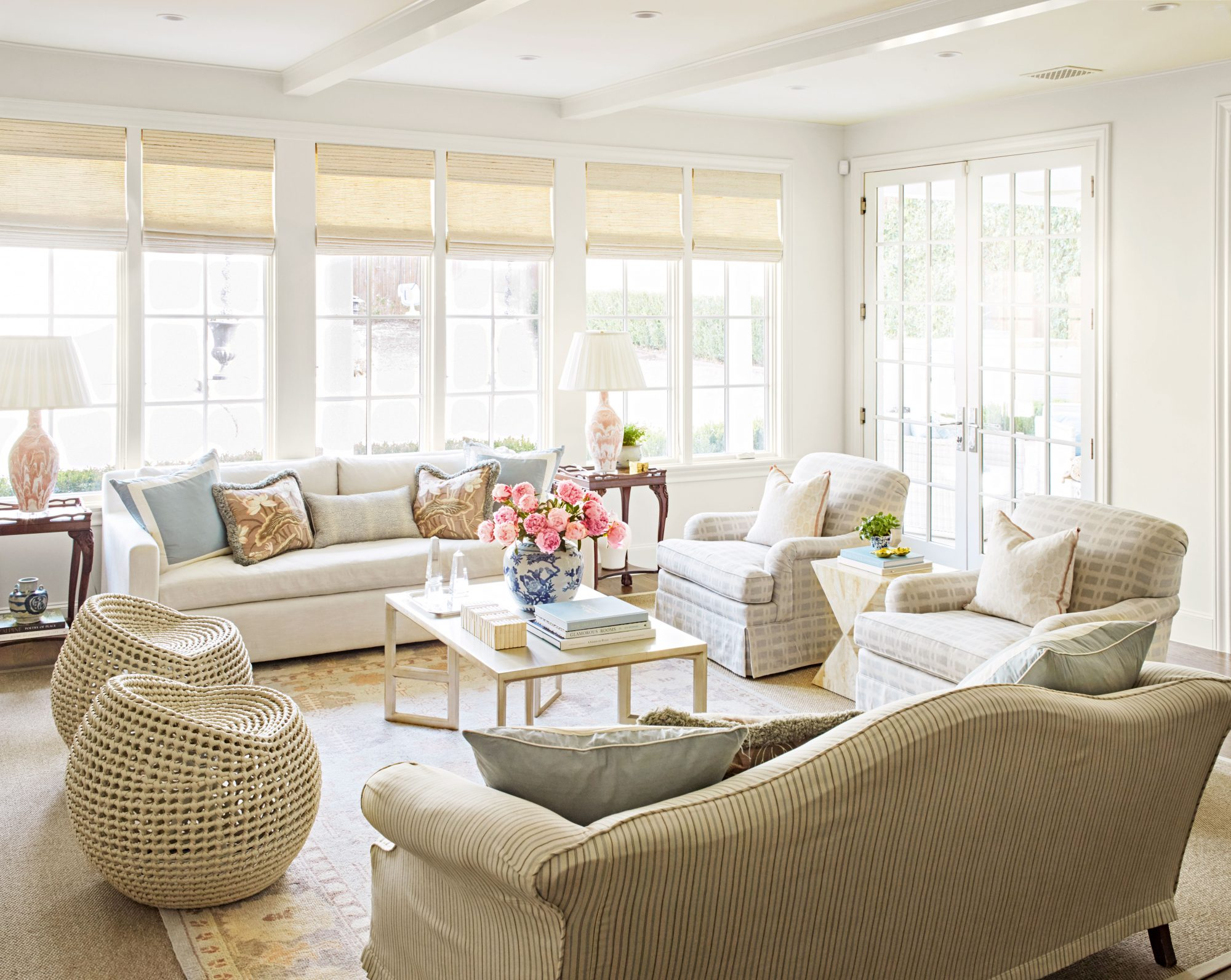 Living room with light colors