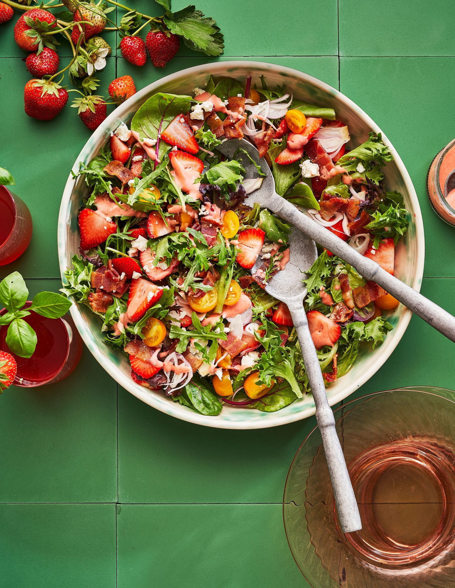 Spring Salad with Berries and Bacon