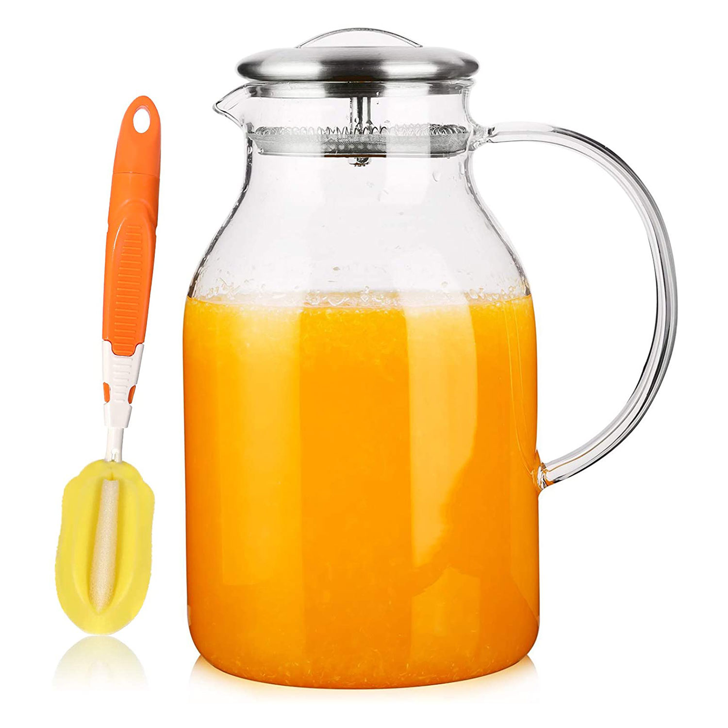 Glass Pitcher with Lid and Spout