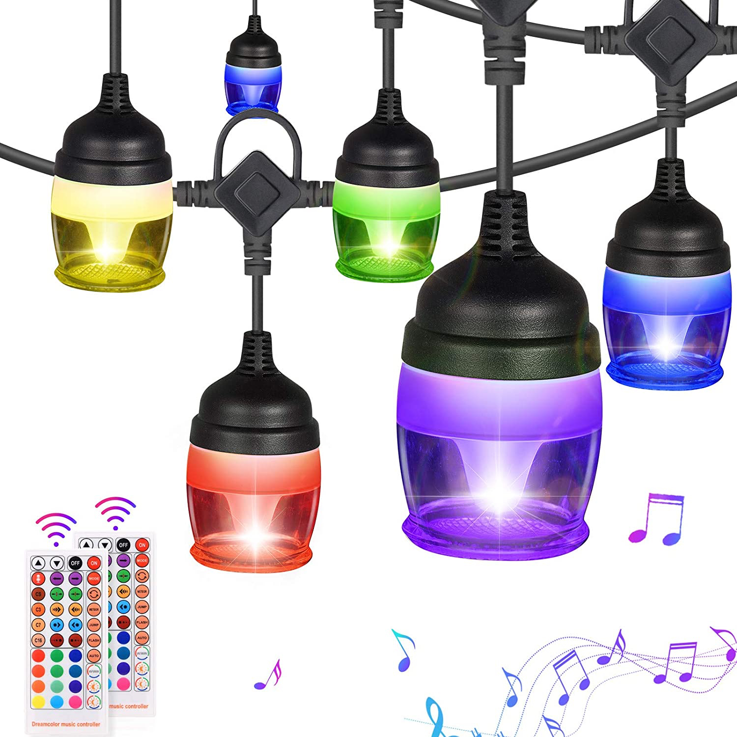 Fricon Color Changing and Warm White Outdoor String Lights