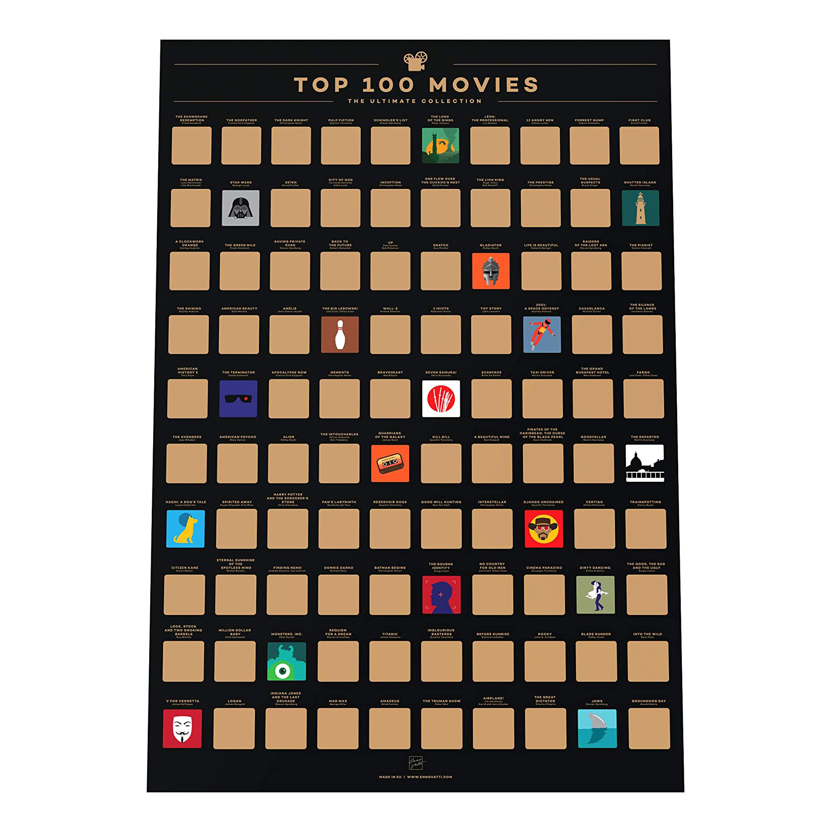 100 Movies Poster