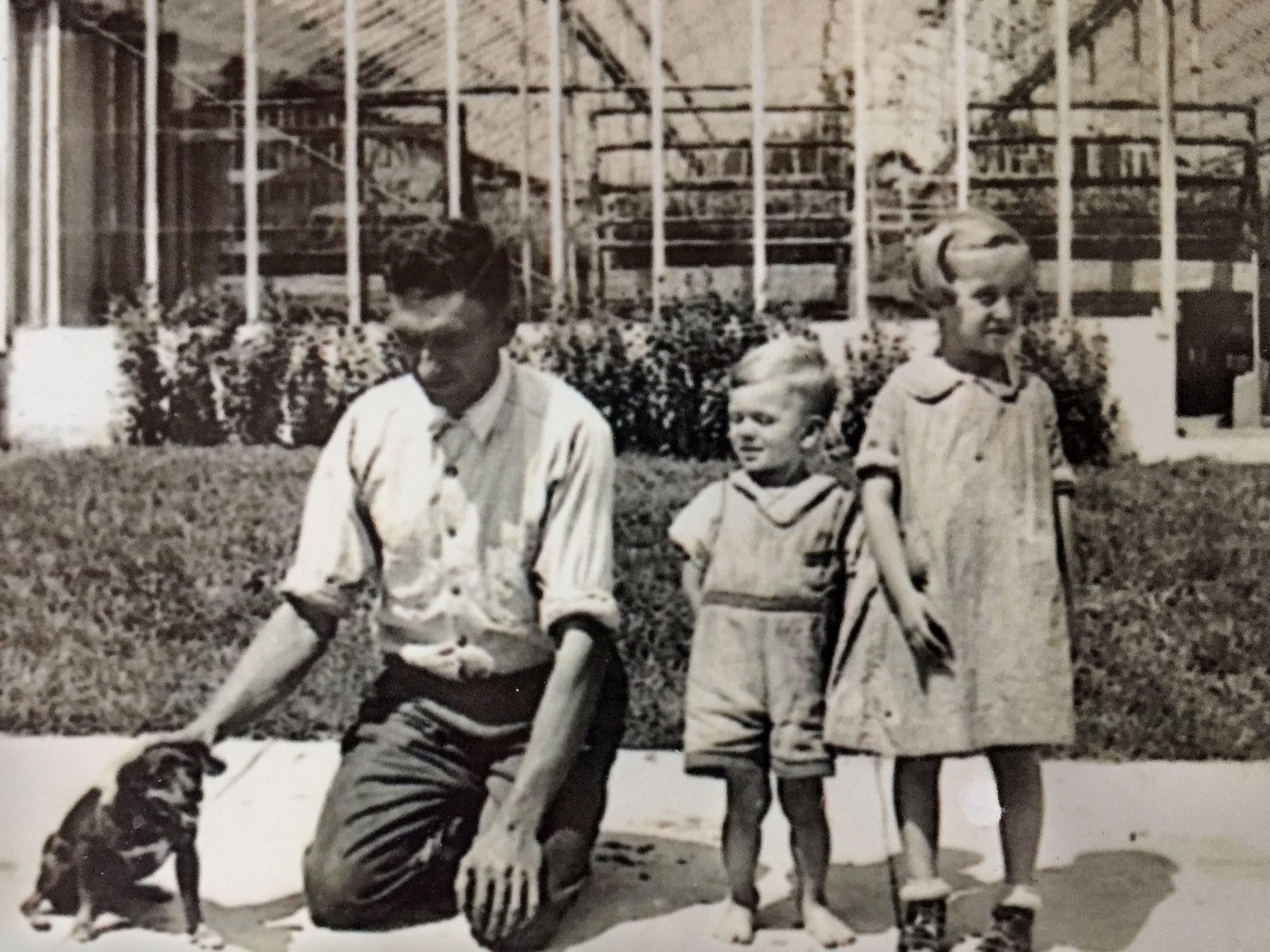 Emily Copus' Great Grandfather on his flower farm