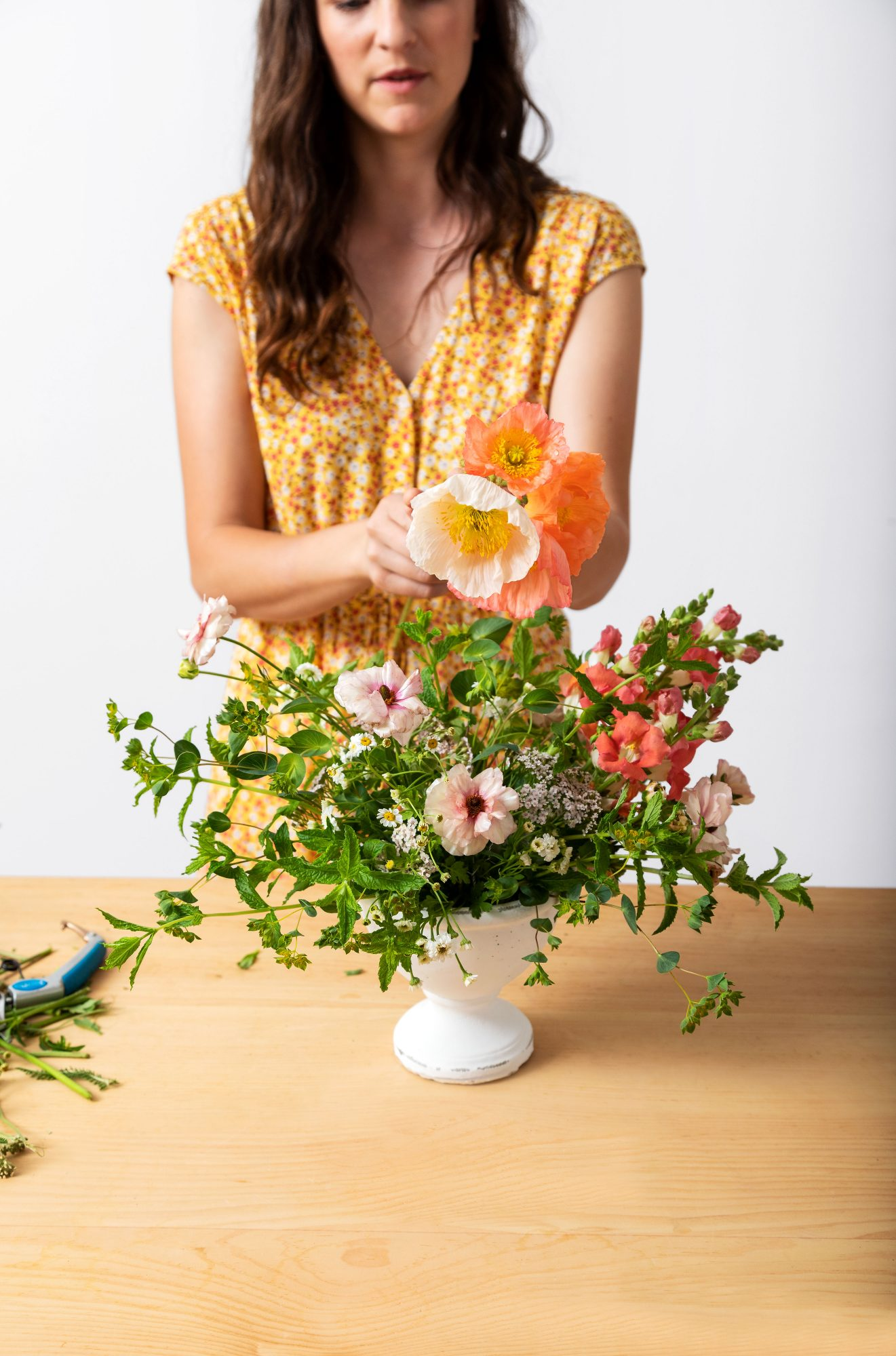 Emily Copus Flower Arrangement Step by Step Inserting Poppies