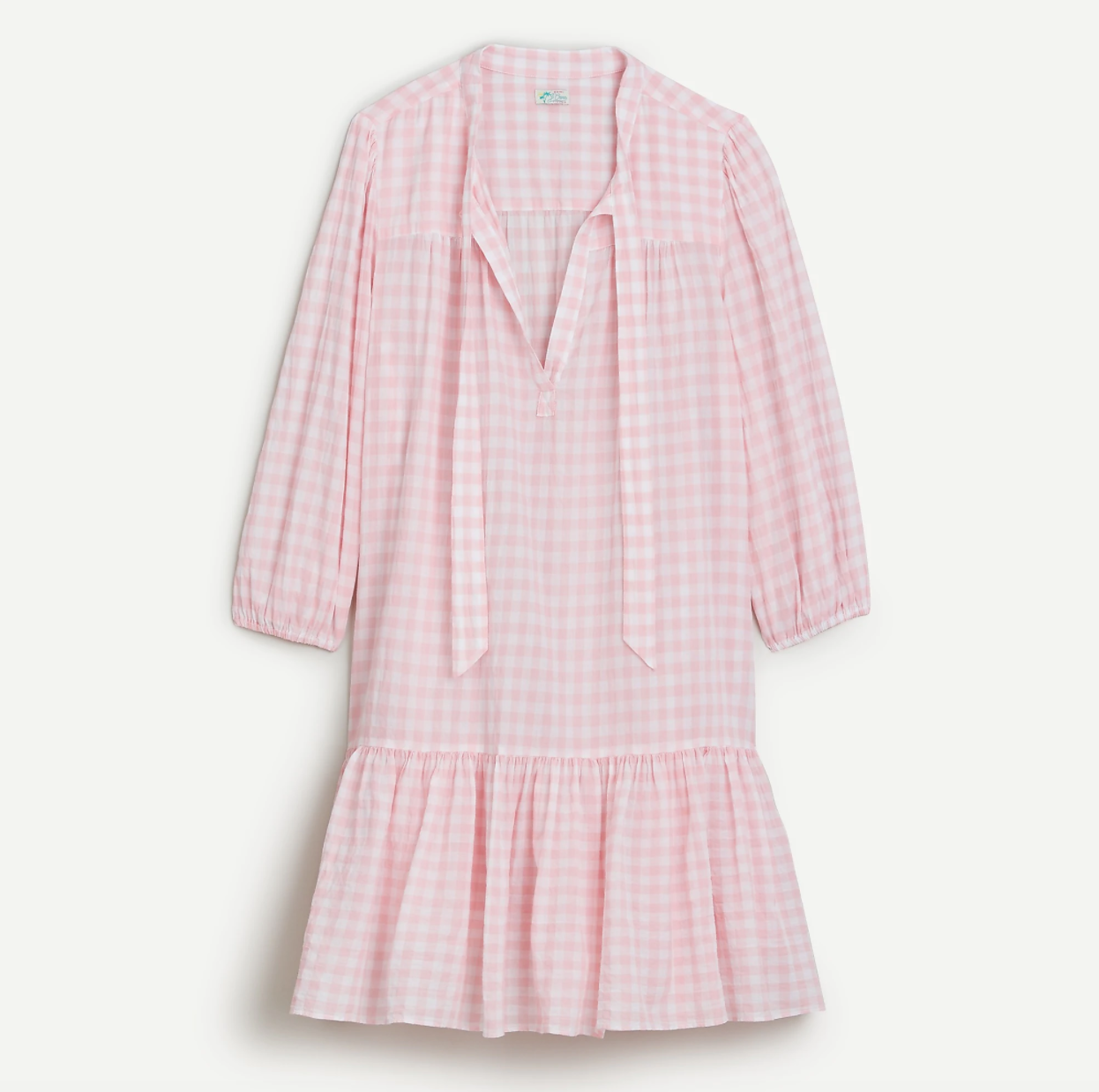 J Crew Beach Tunic in Pink Gingham